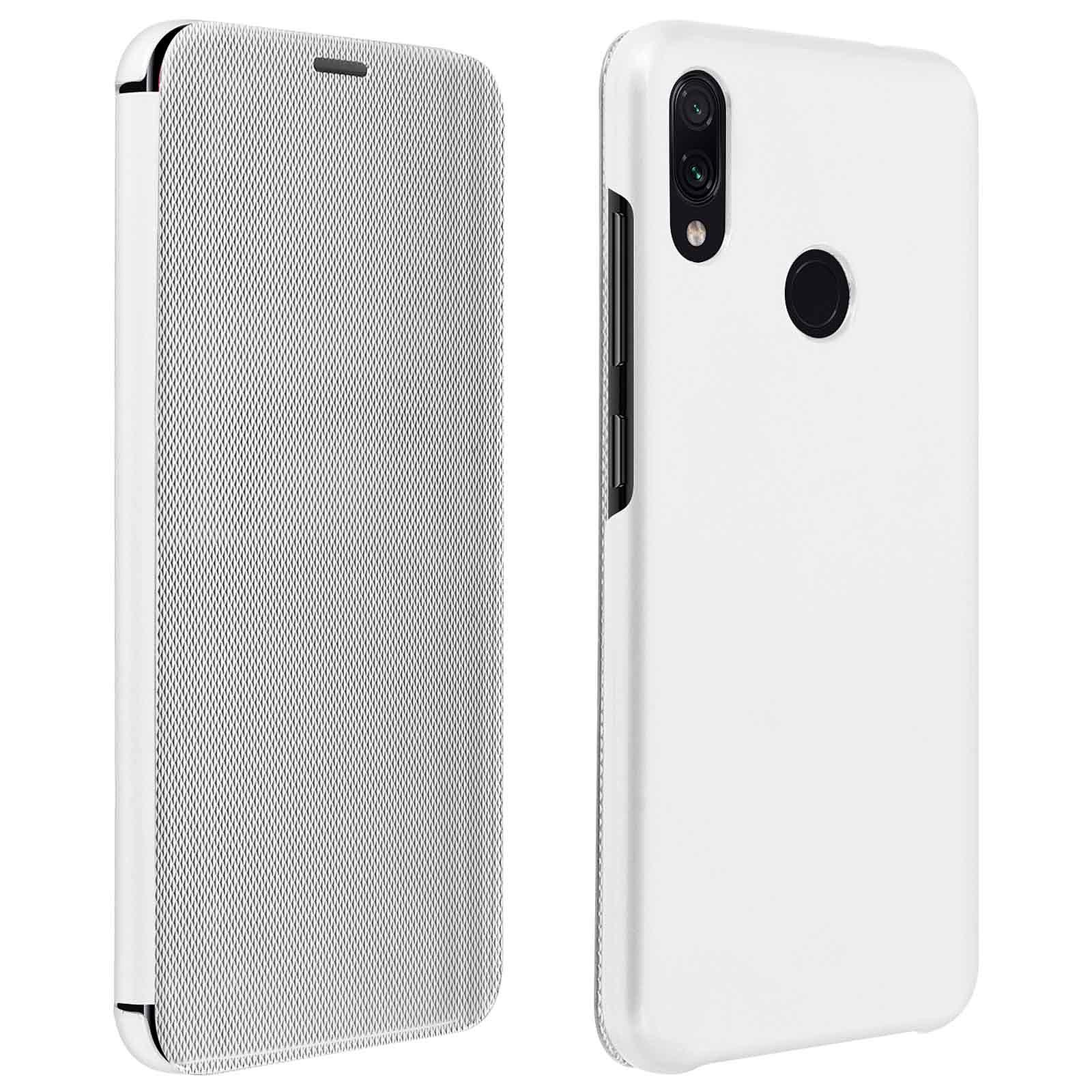 Avizar Etui folio Argent pour Xiaomi Redmi Note 7
