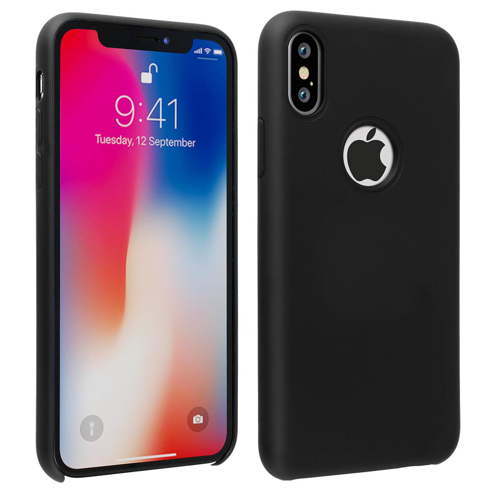 Avizar Coque Noir Antichoc pour Apple iPhone X , Apple iPhone XS
