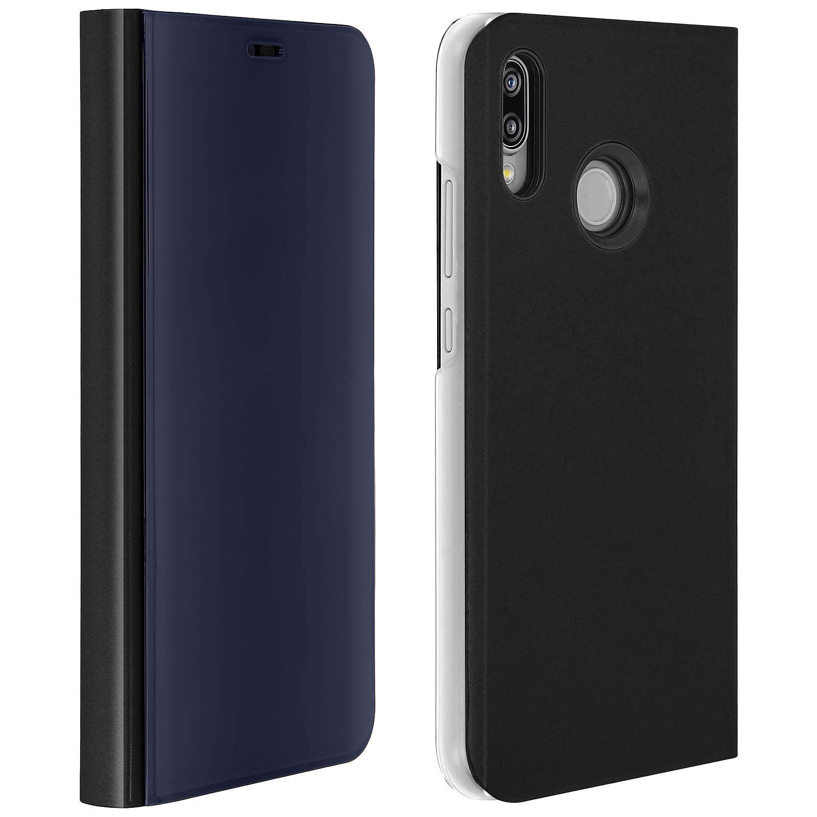 Avizar Etui folio Noir pour Huawei P20 Lite