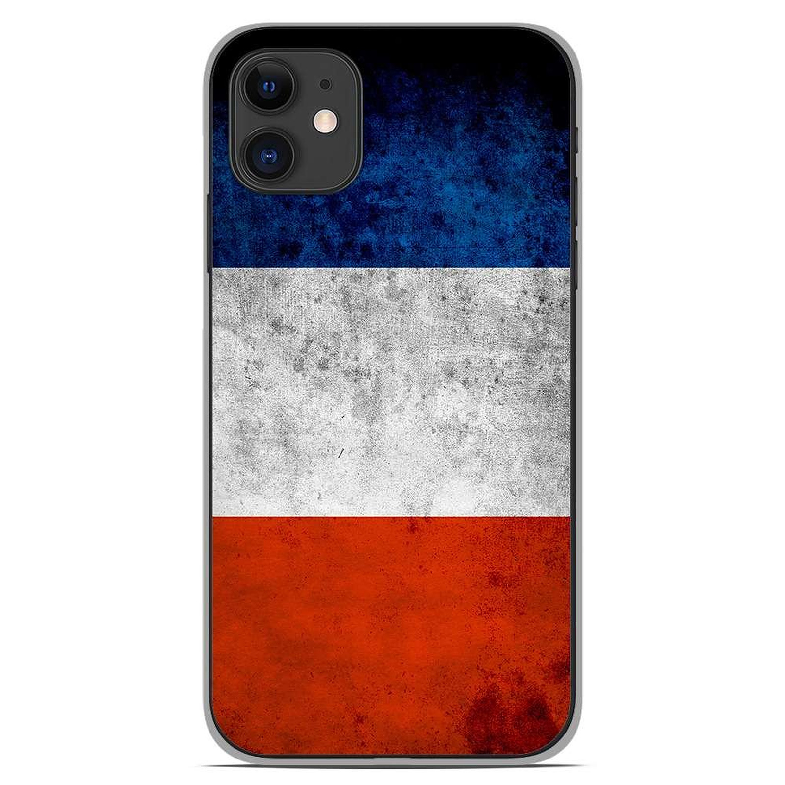 1001 Coques Coque silicone gel Apple iPhone 11 motif Drapeau France