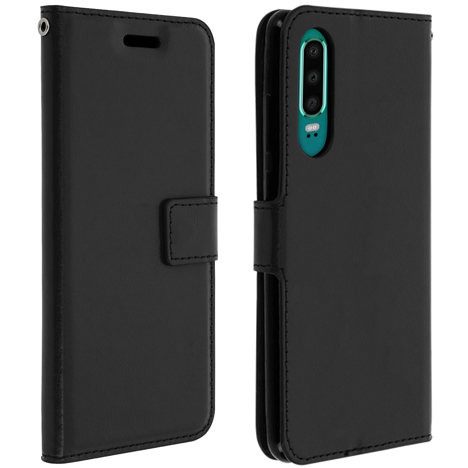 Avizar Etui folio Noir pour Huawei P30