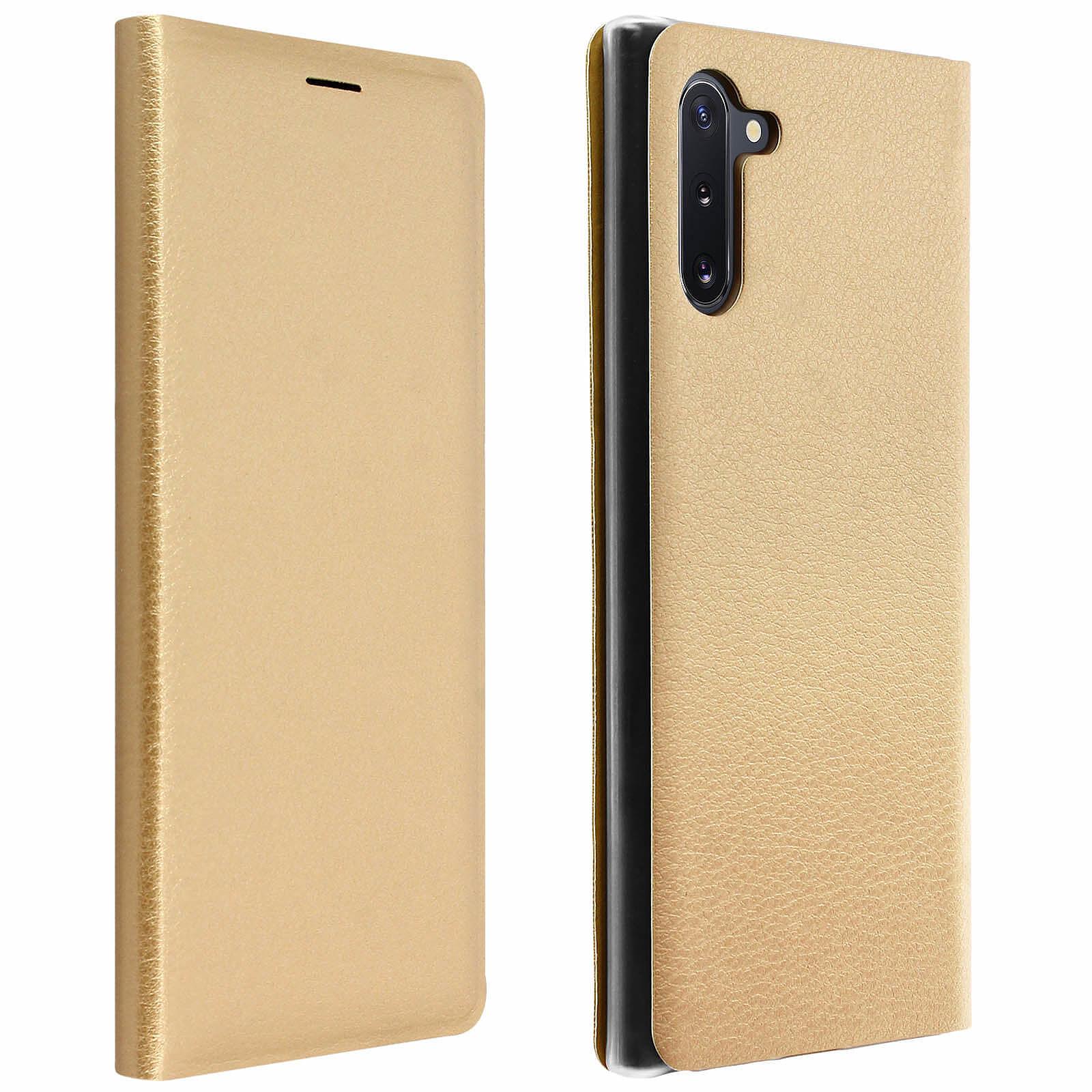 Avizar Etui folio Dorée pour Samsung Galaxy Note 10