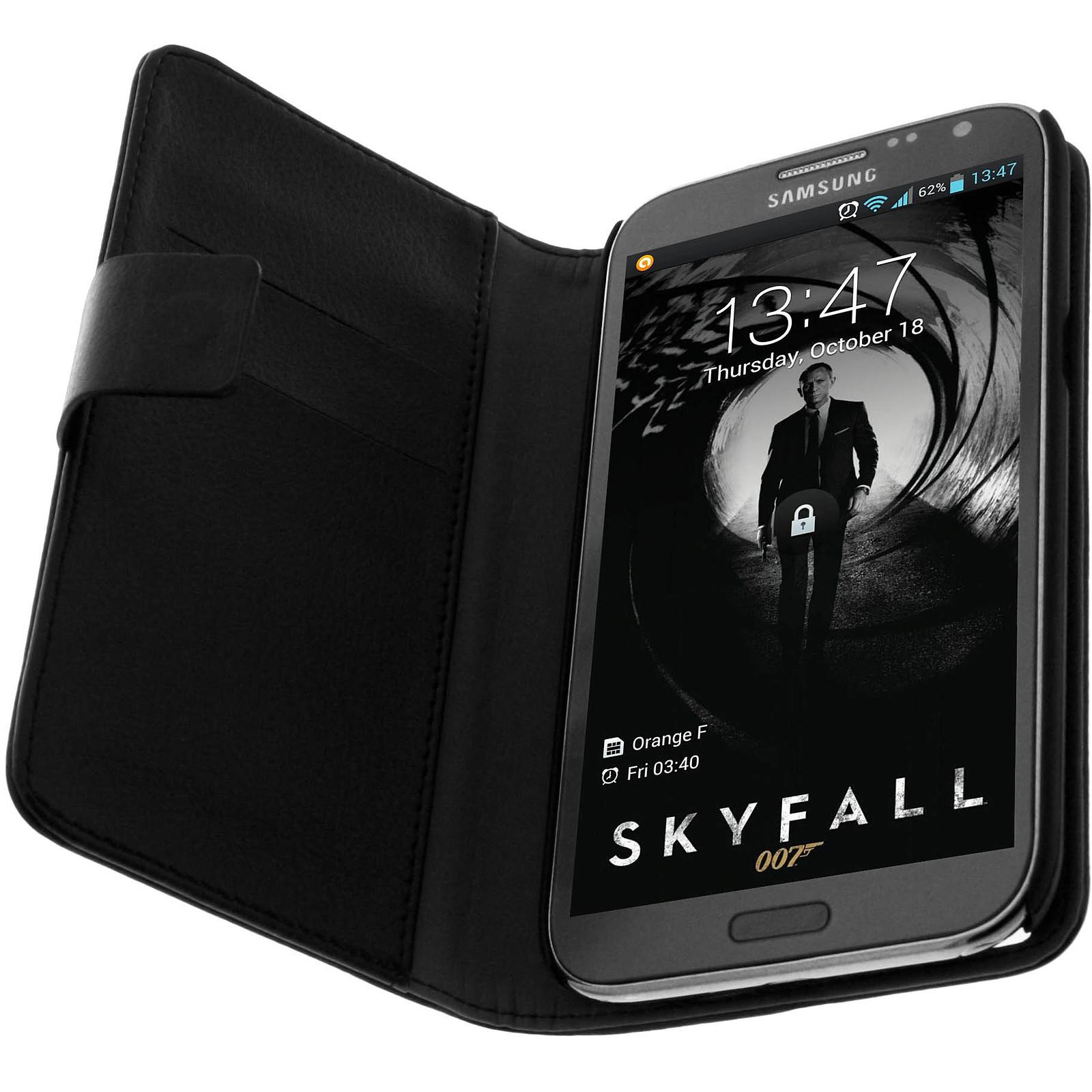Avizar Etui folio Noir pour Samsung Galaxy Note 2 N7100
