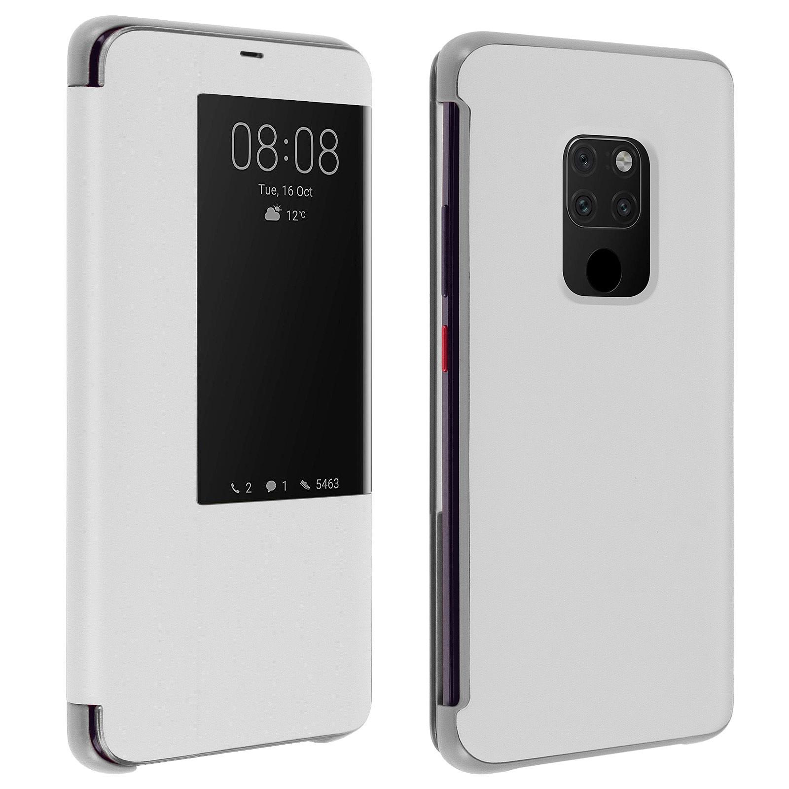 Avizar Etui folio Argent pour Huawei Mate 20