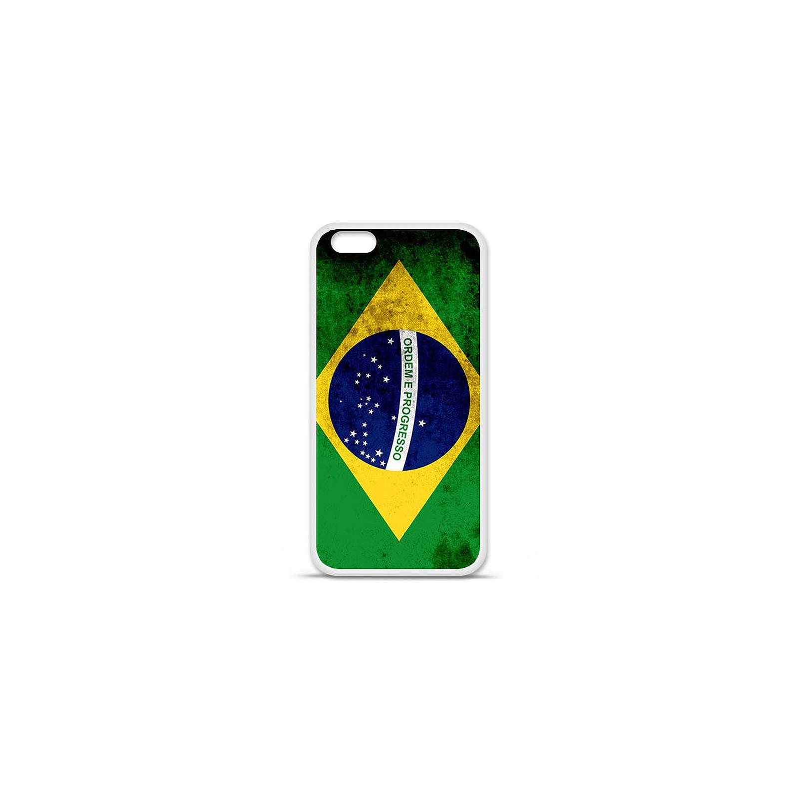 1001 Coques Coque silicone gel Apple IPhone 7 Plus motif Drapeau Brésil