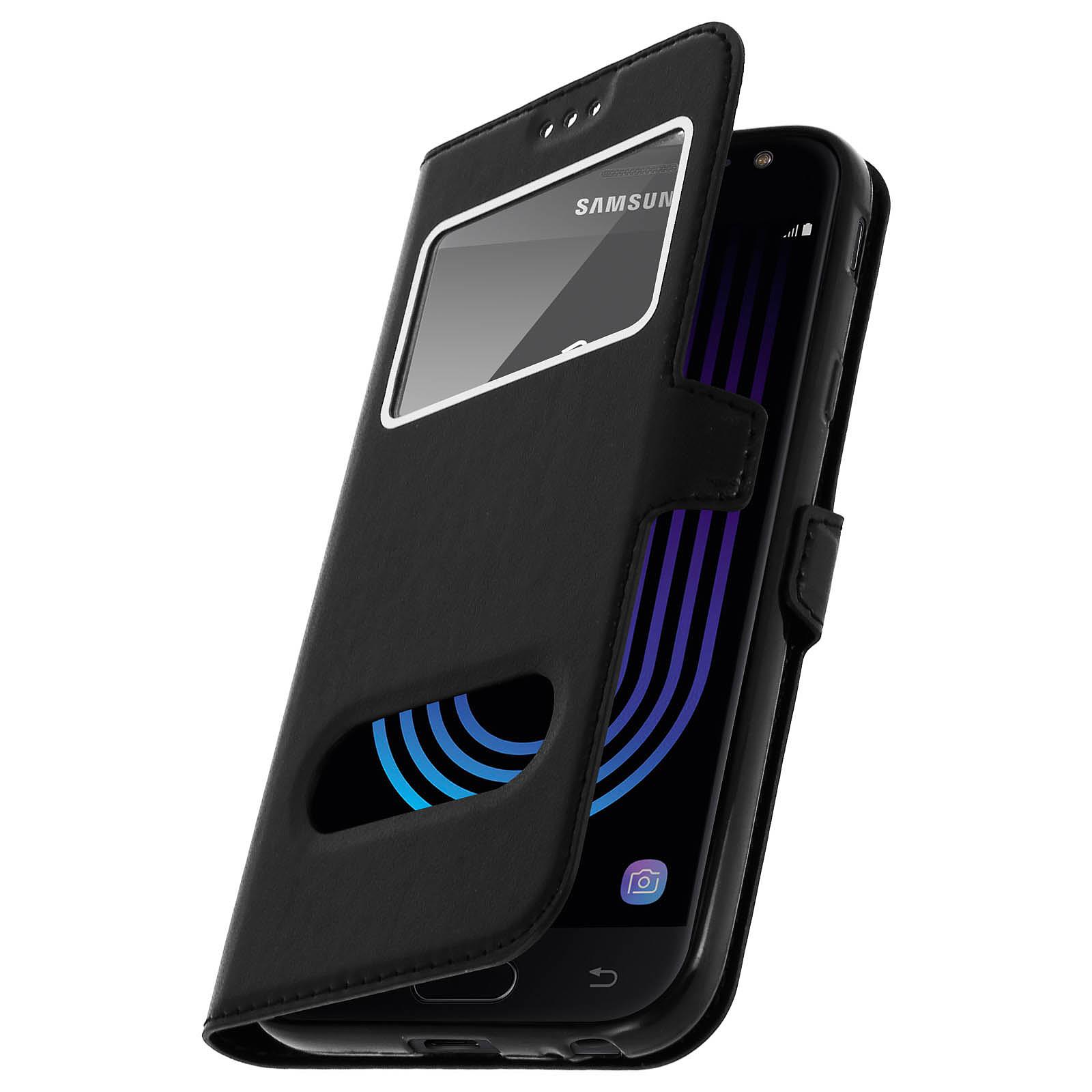 Avizar Etui folio Noir pour Samsung Galaxy J3 2017