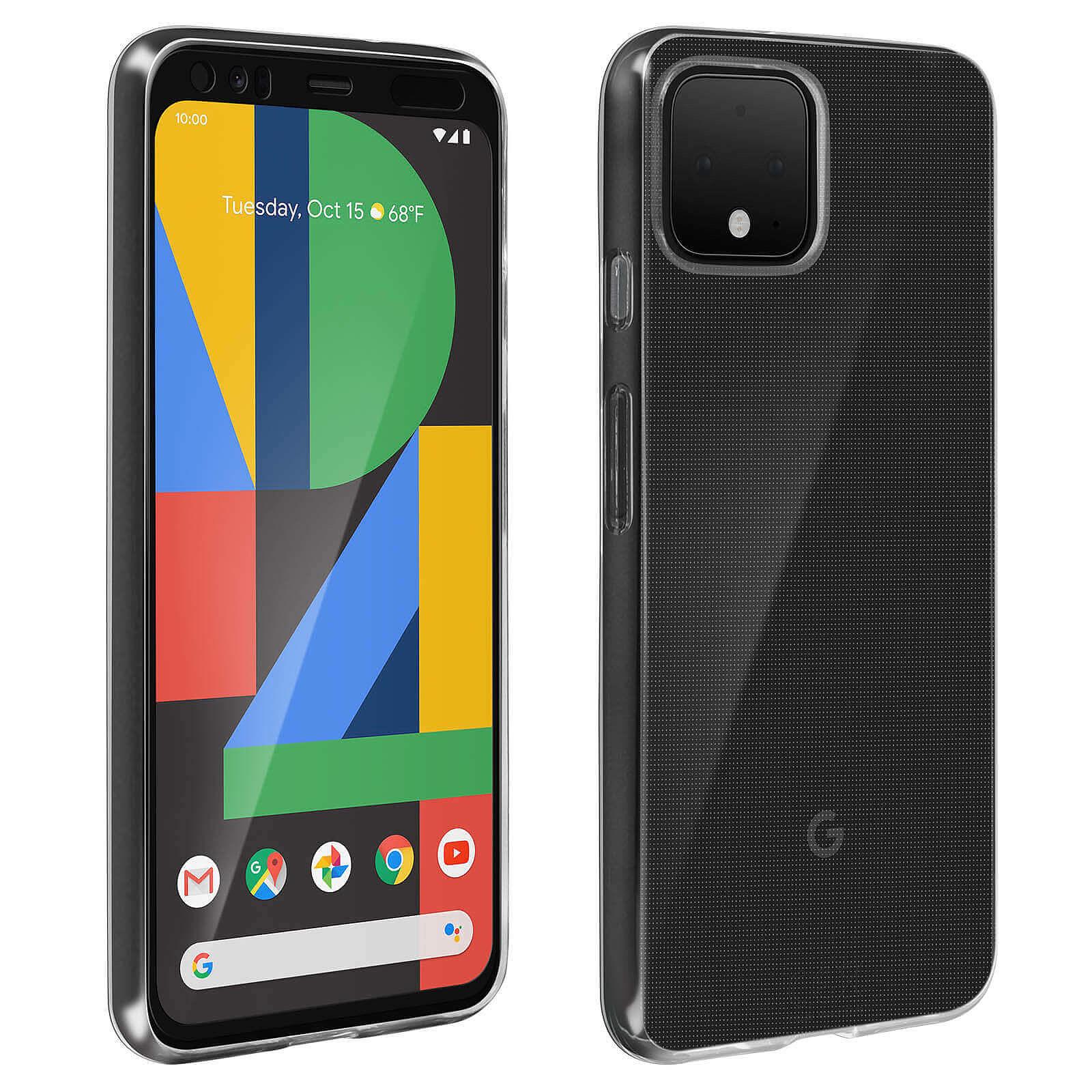 Avizar Pack protection Noir pour Google Pixel 4 XL