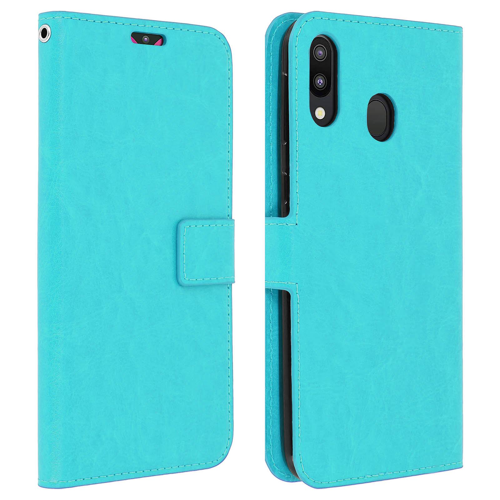 Avizar Etui folio Turquoise pour Samsung Galaxy M20