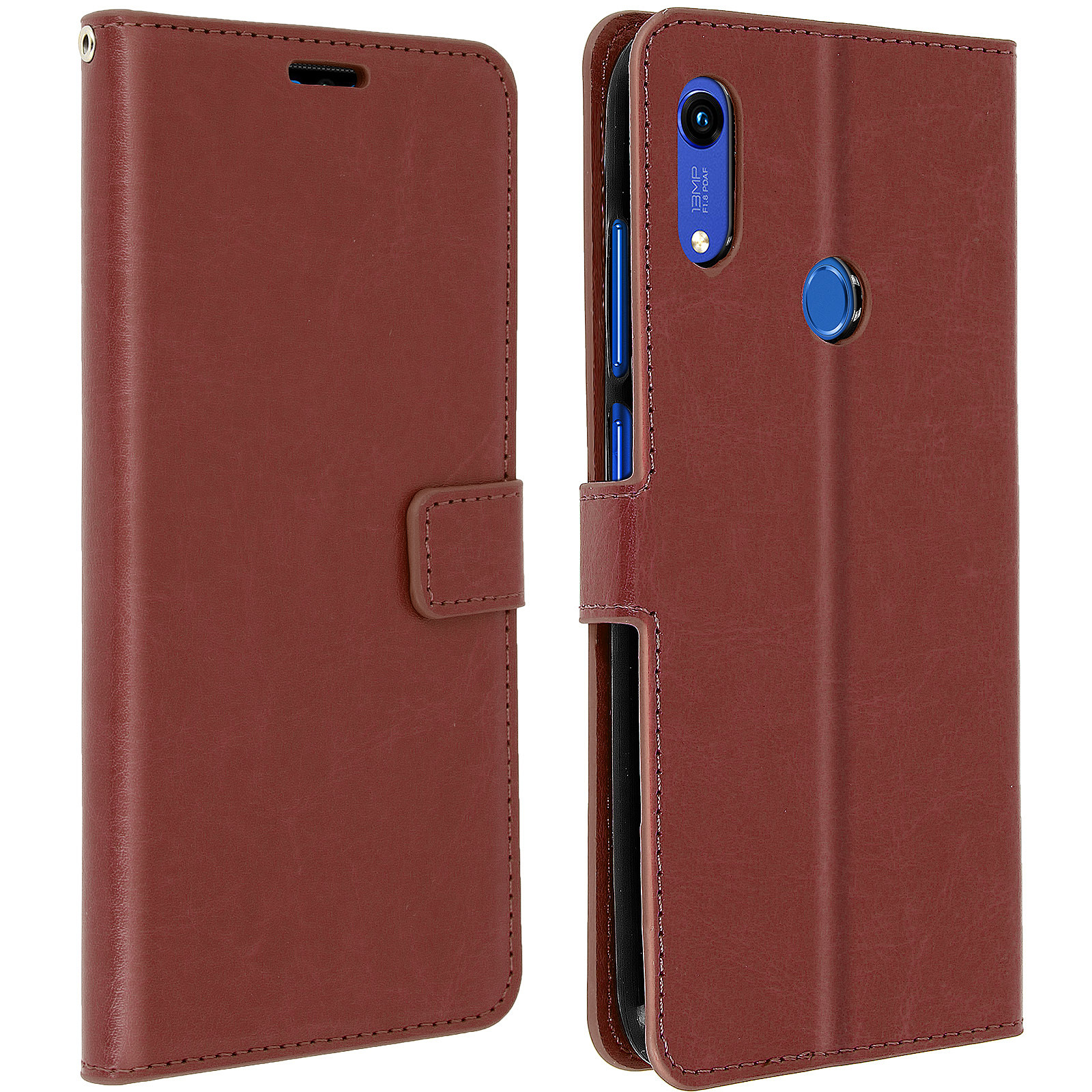 Avizar Etui folio Marron pour Huawei Y6 2019,Honor 8A