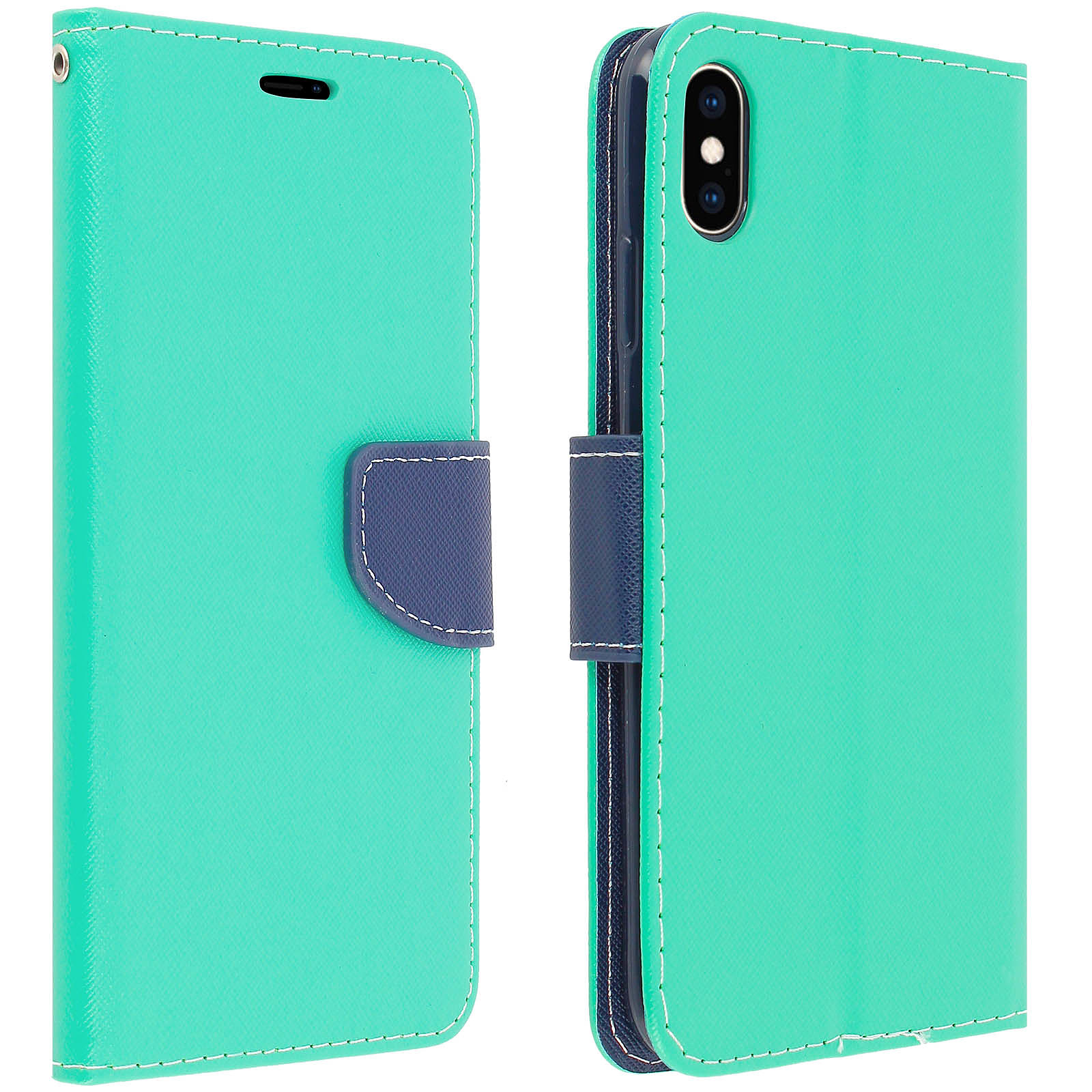 Avizar Etui folio Vert pour Apple iPhone XS Max