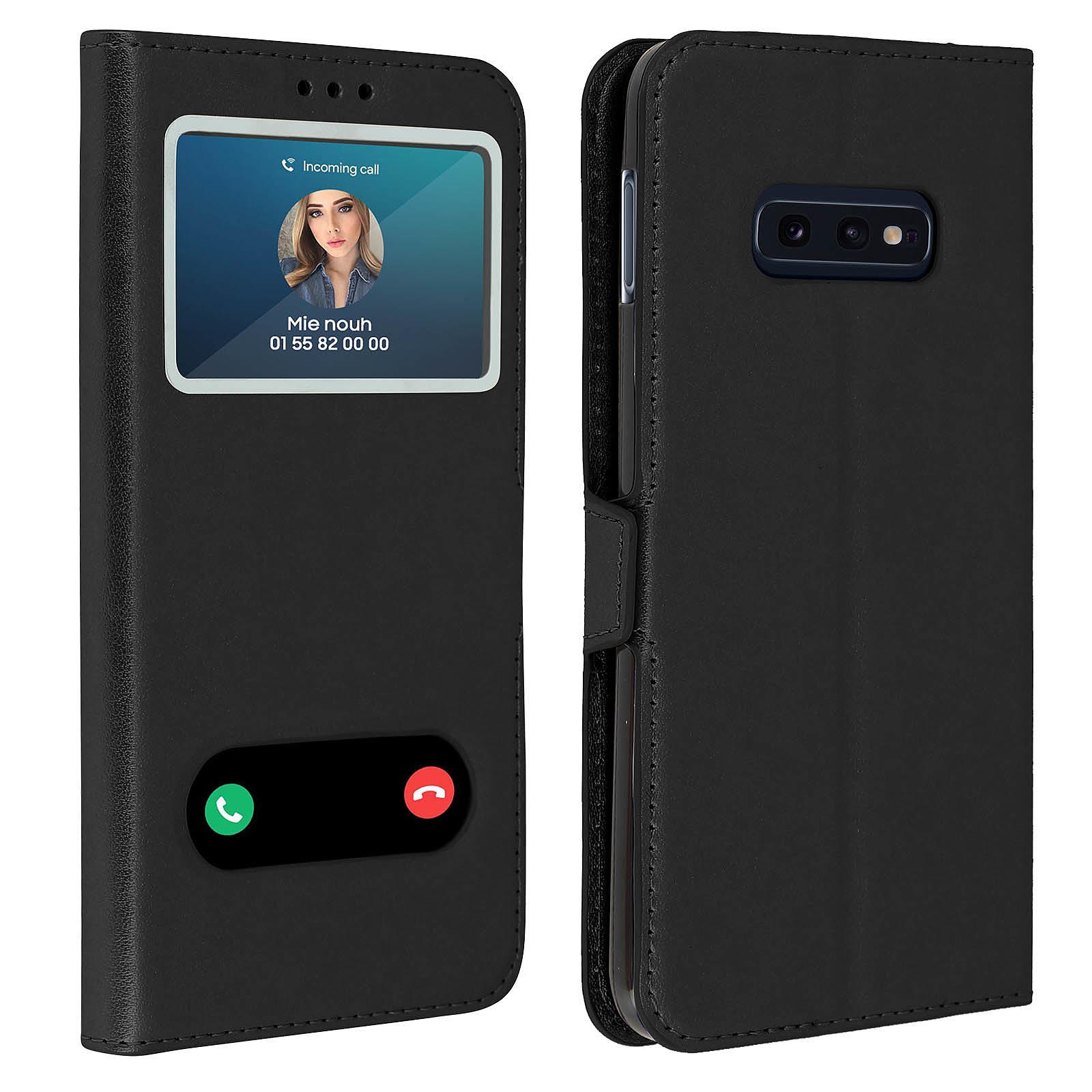 Avizar Etui folio Noir pour Samsung Galaxy S10e