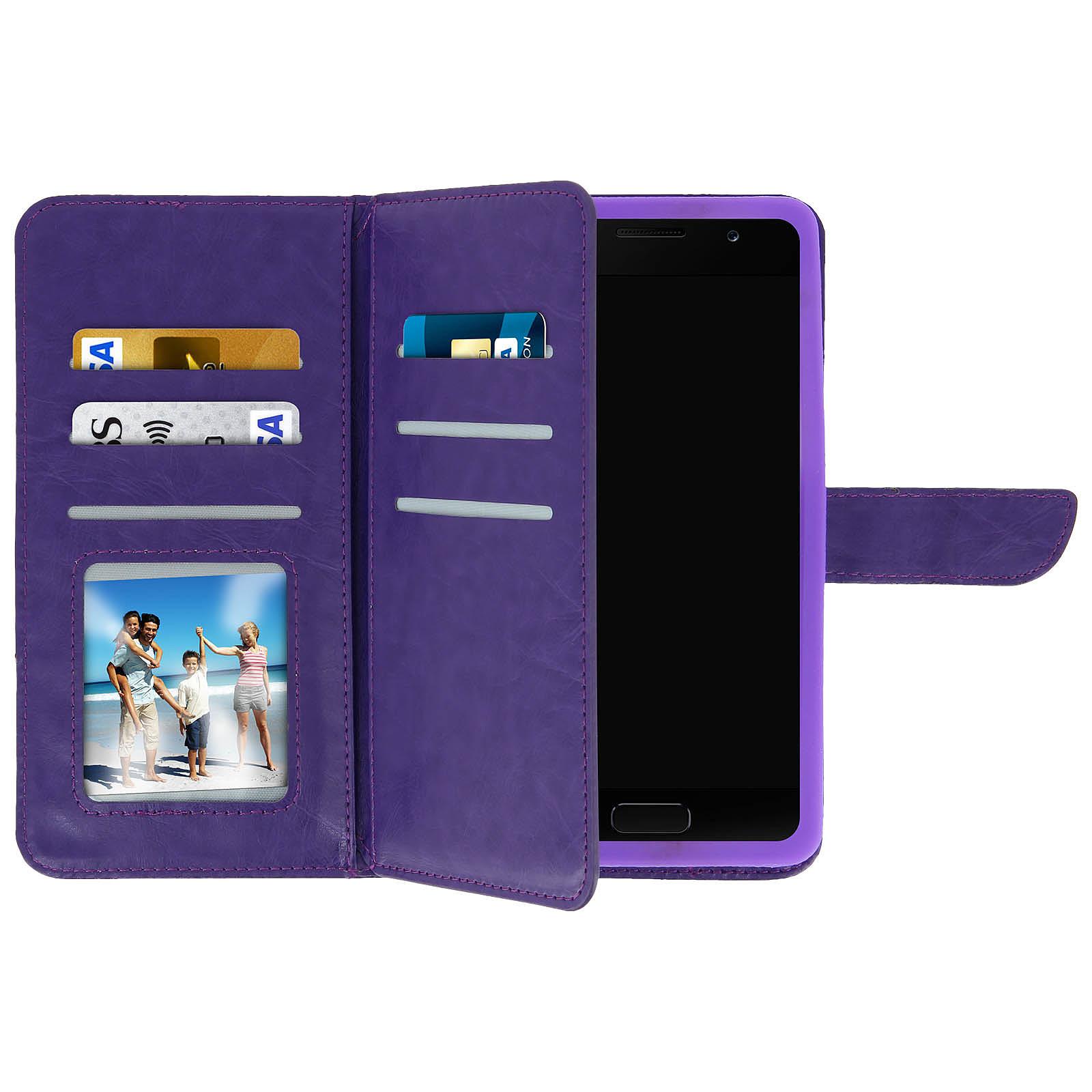 Avizar Etui folio Violet pour Smartphones de 5.3' à 5.5'