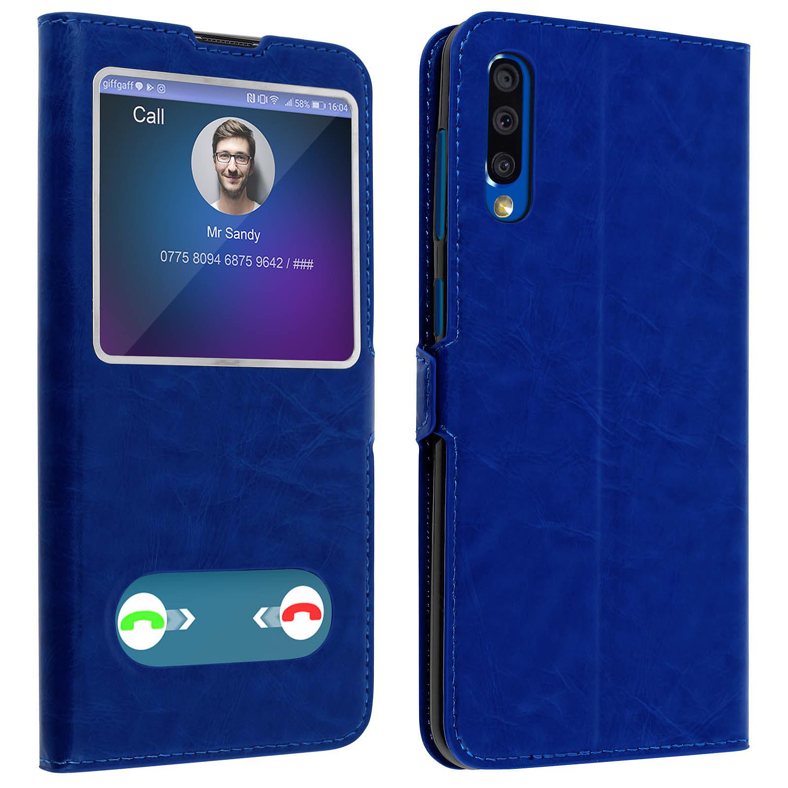 Avizar Etui folio Bleu pour Samsung Galaxy A50 , Samsung Galaxy A30s