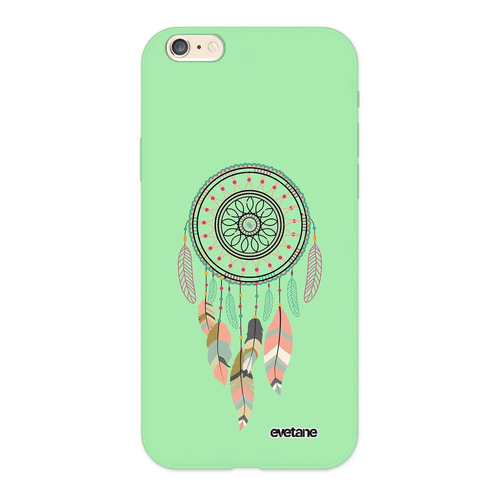 EVETANE Coque iPhone 6/6S Silicone Liquide Douce vert pâle Attrape rêve pastel - Coque téléphone Evetane sur LDLC