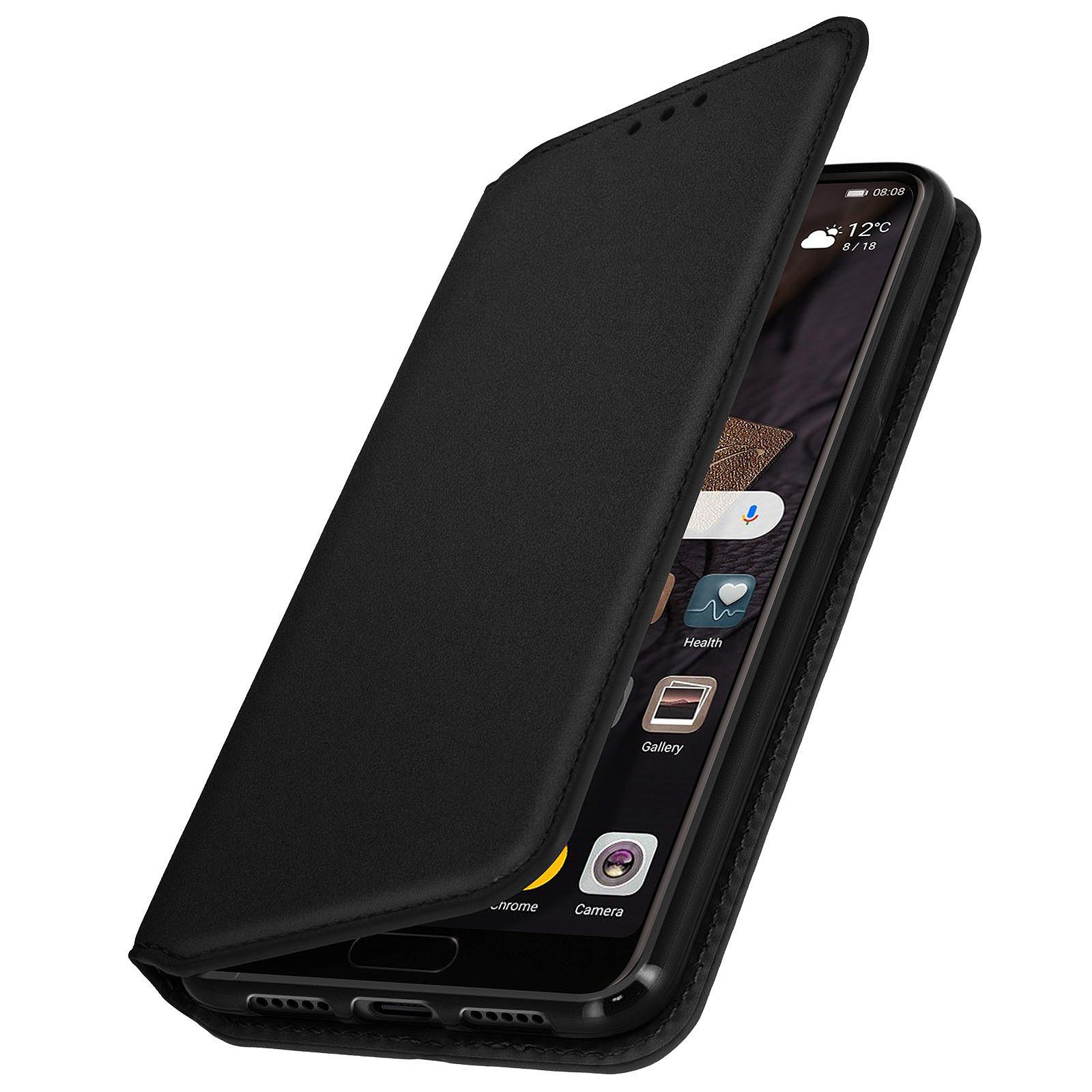Avizar Etui folio Noir Éco-cuir pour Huawei P20