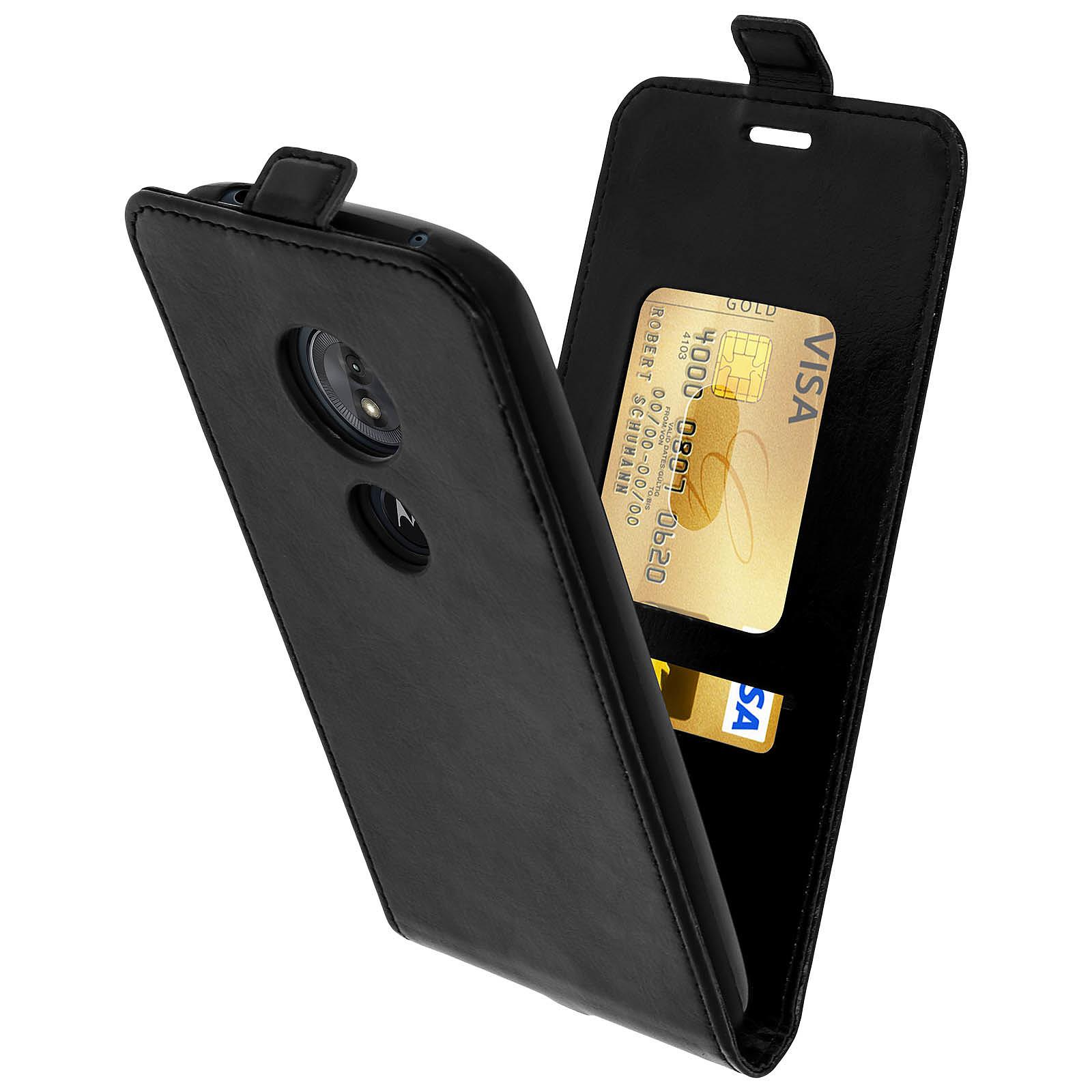 Avizar Etui à clapet Noir pour Motorola Moto G6 Play , Motorola Moto E5