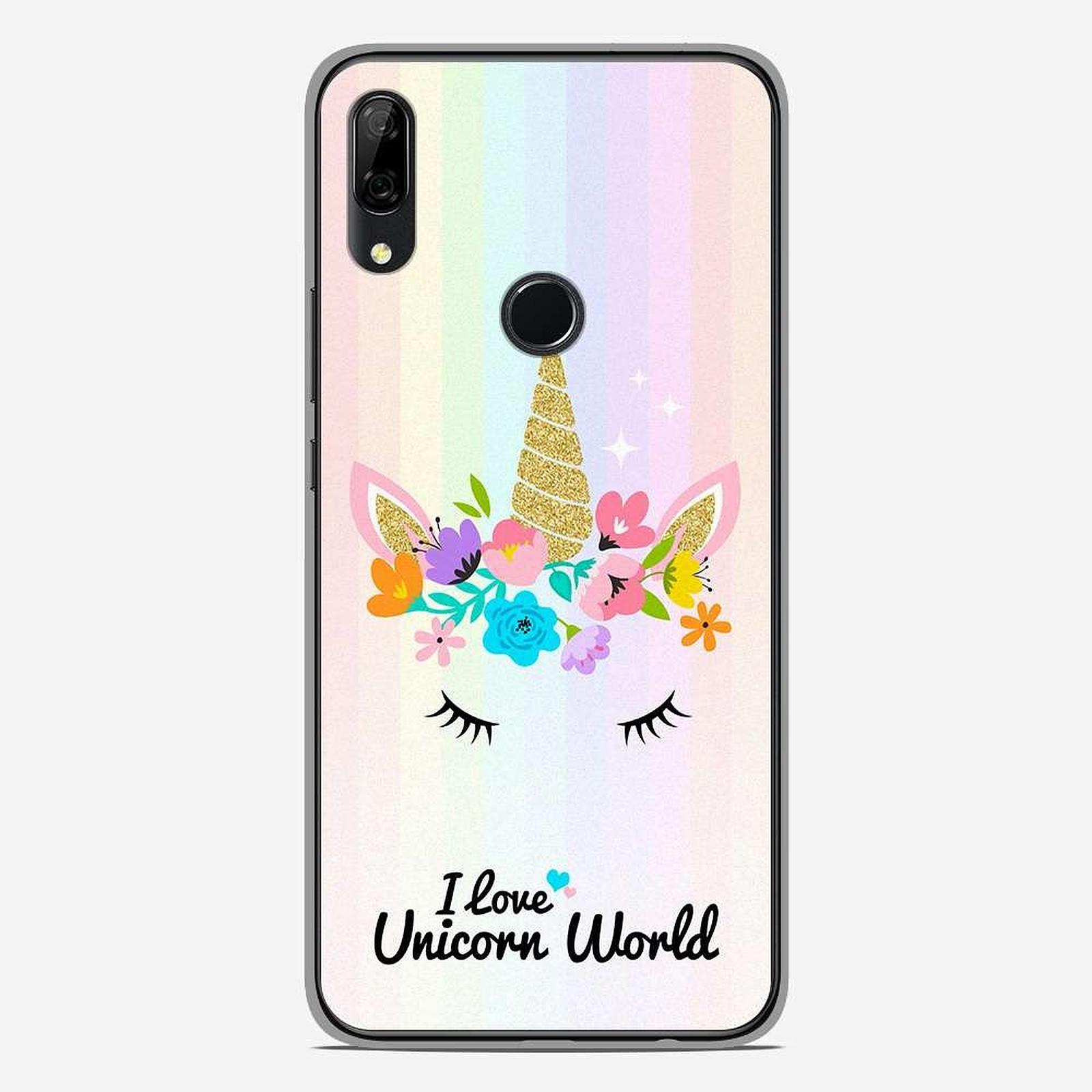 1001 Coques Coque silicone gel Huawei P Smart Z motif Unicorn World