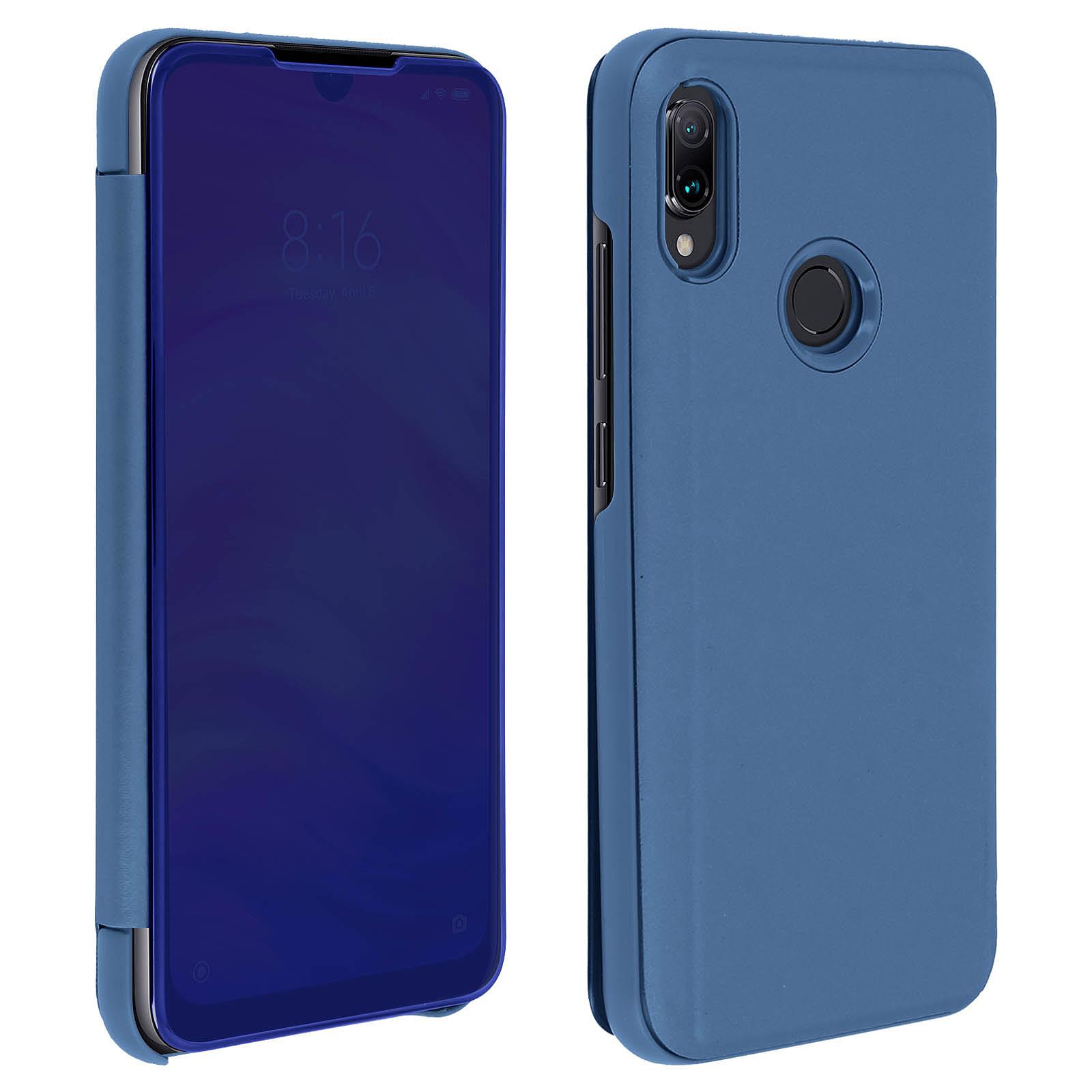 Avizar Etui folio Bleu pour Xiaomi Redmi Note 7