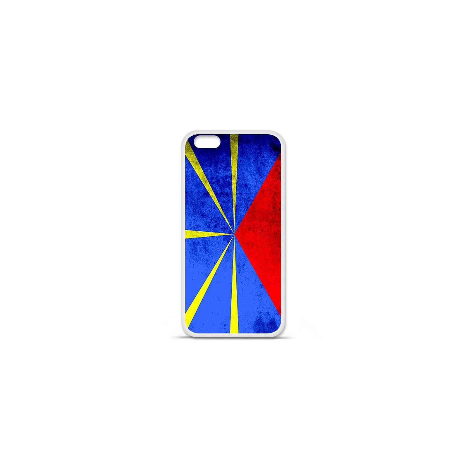 1001 Coques Coque silicone gel Apple IPhone 7 Plus motif Drapeau La Réunion