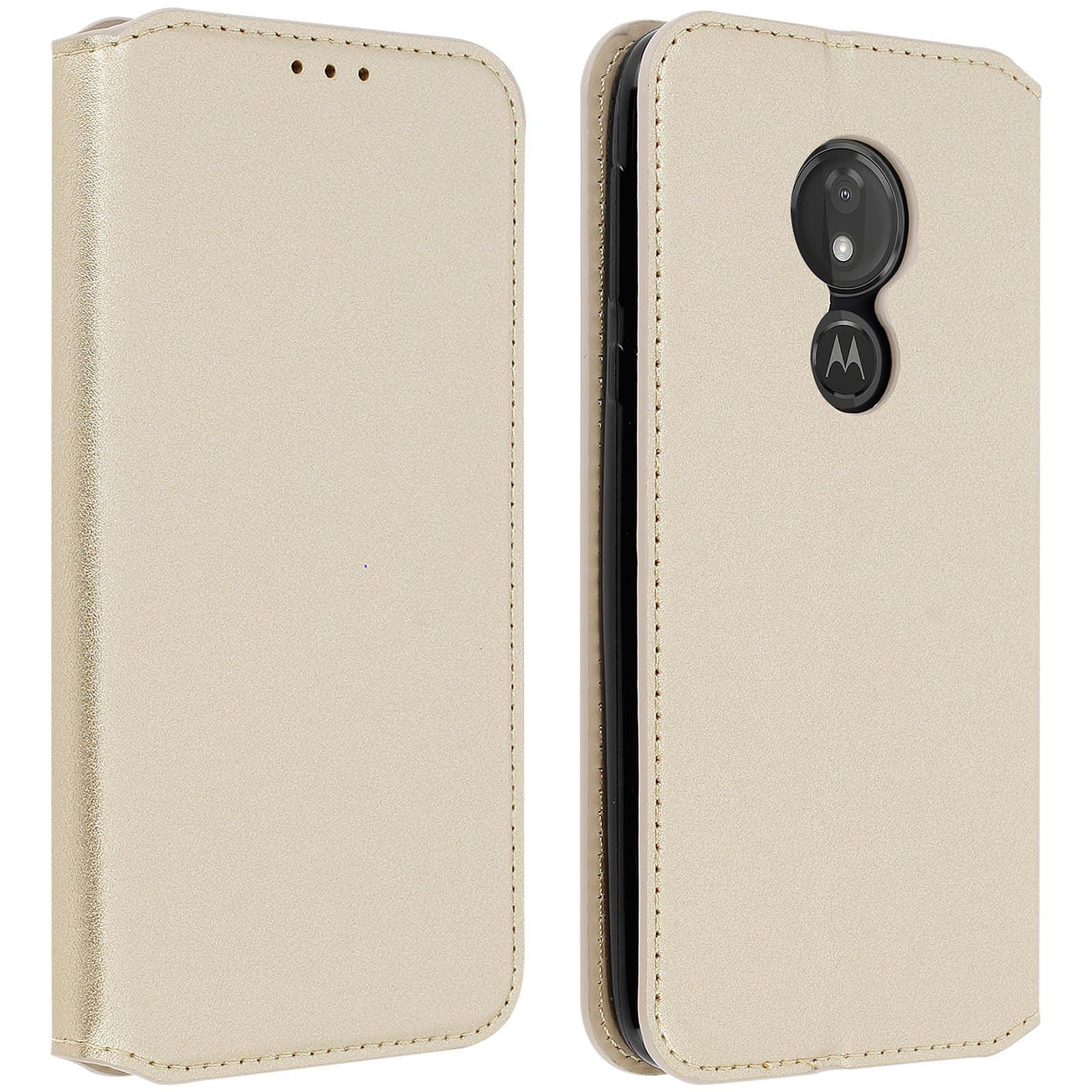 Avizar Etui folio Dorée pour Motorola Moto G7 Power