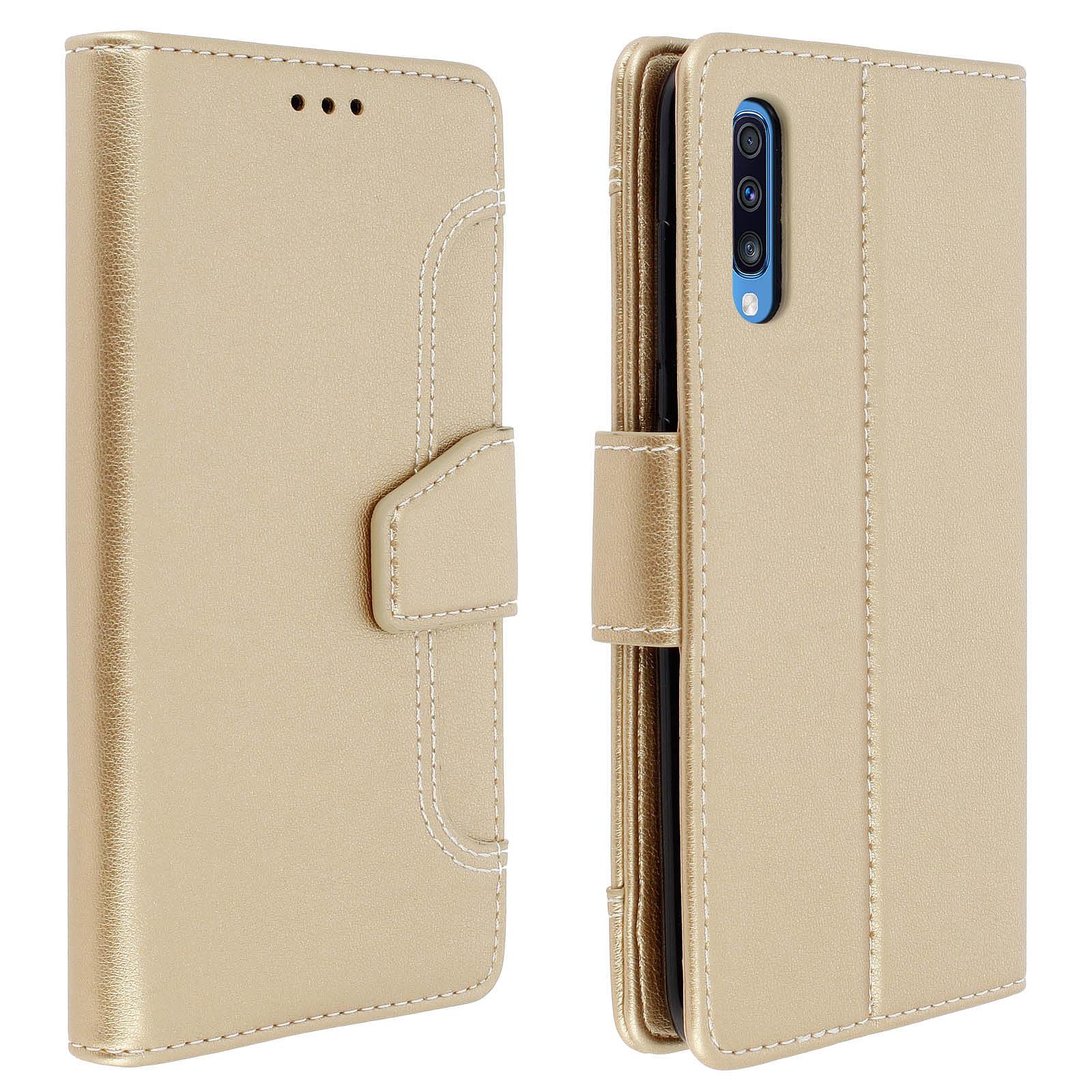 Avizar Etui folio Dorée pour Samsung Galaxy A50 , Samsung Galaxy A30s