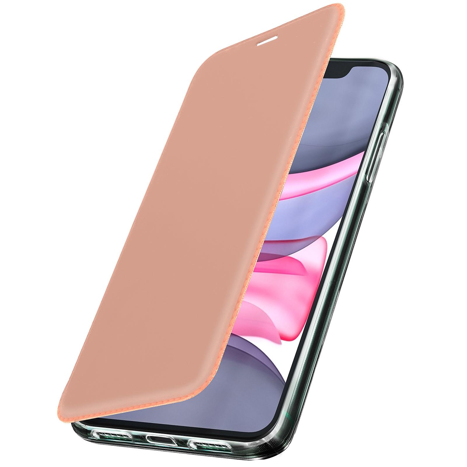 Avizar Etui folio Rose Champagne Miroir pour Apple iPhone 11