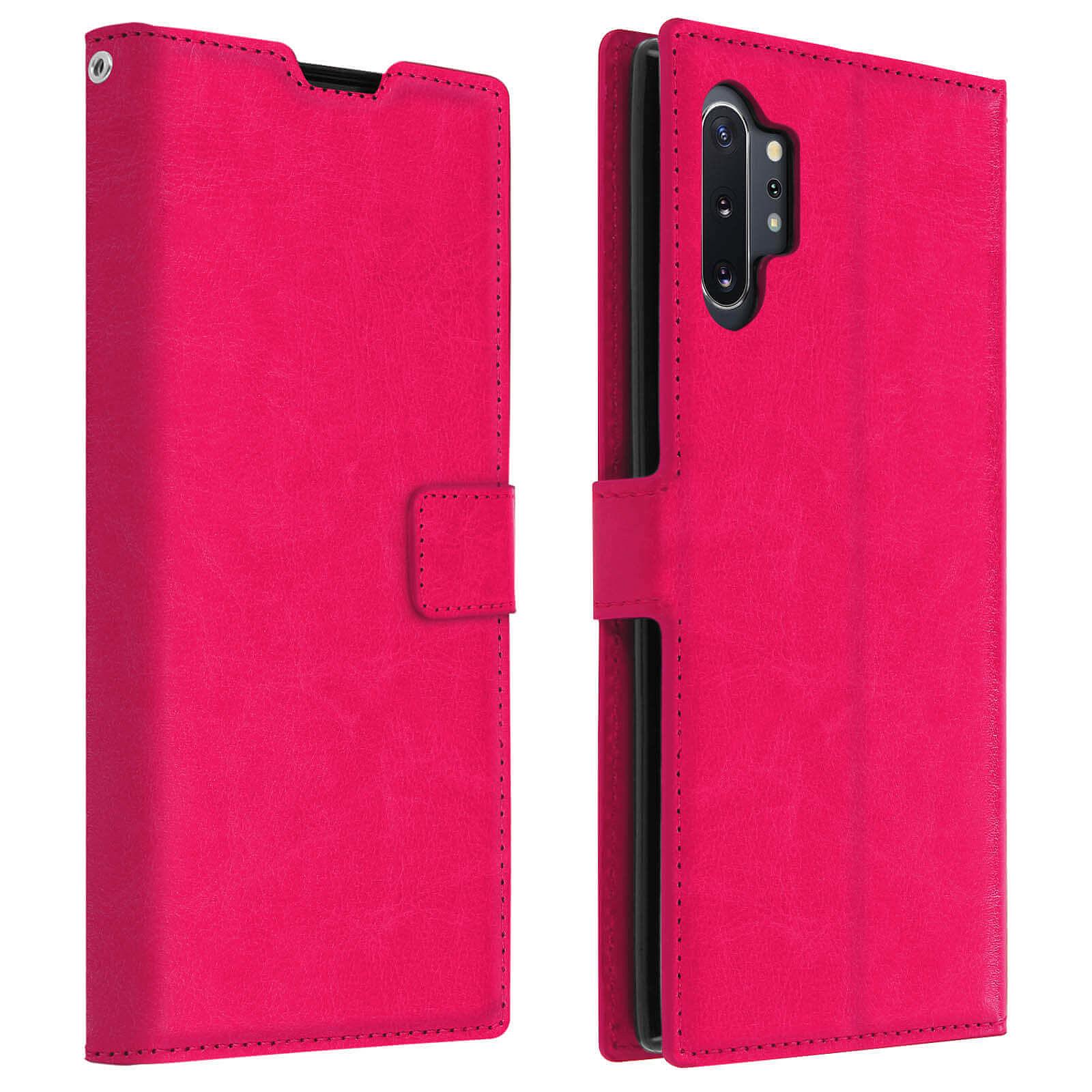 Avizar Etui folio Rose Portefeuille pour Samsung Galaxy Note 10 Plus