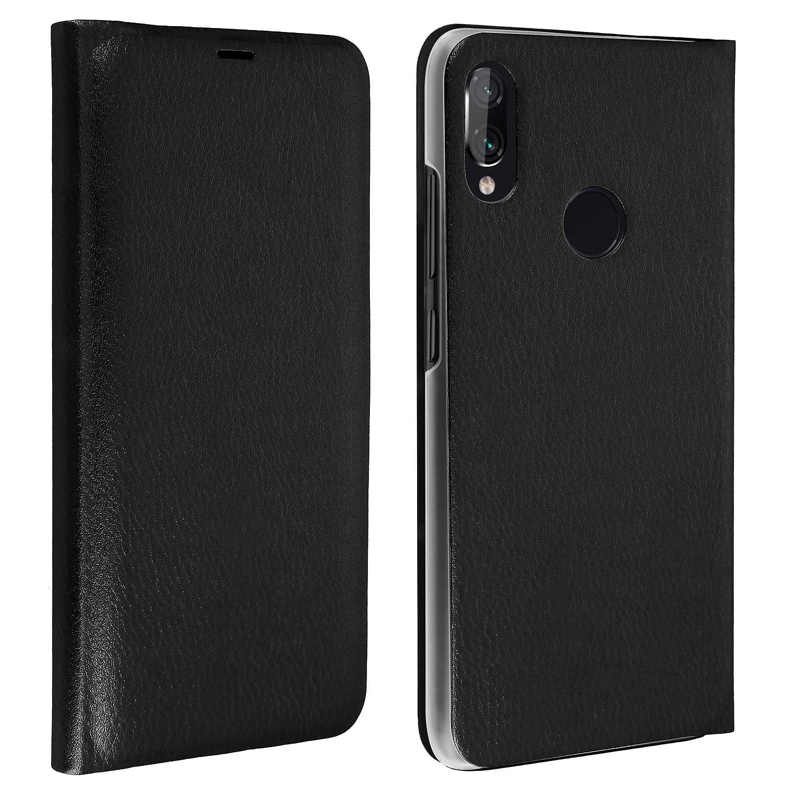 Avizar Etui folio Noir pour Xiaomi Redmi Note 7