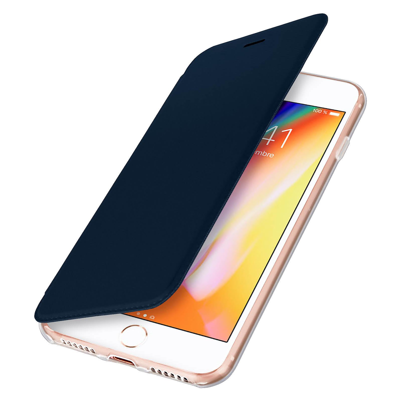 Avizar Etui folio Bleu Nuit pour Apple iPhone 7 , Apple iPhone 8 , Apple iPhone SE 2020