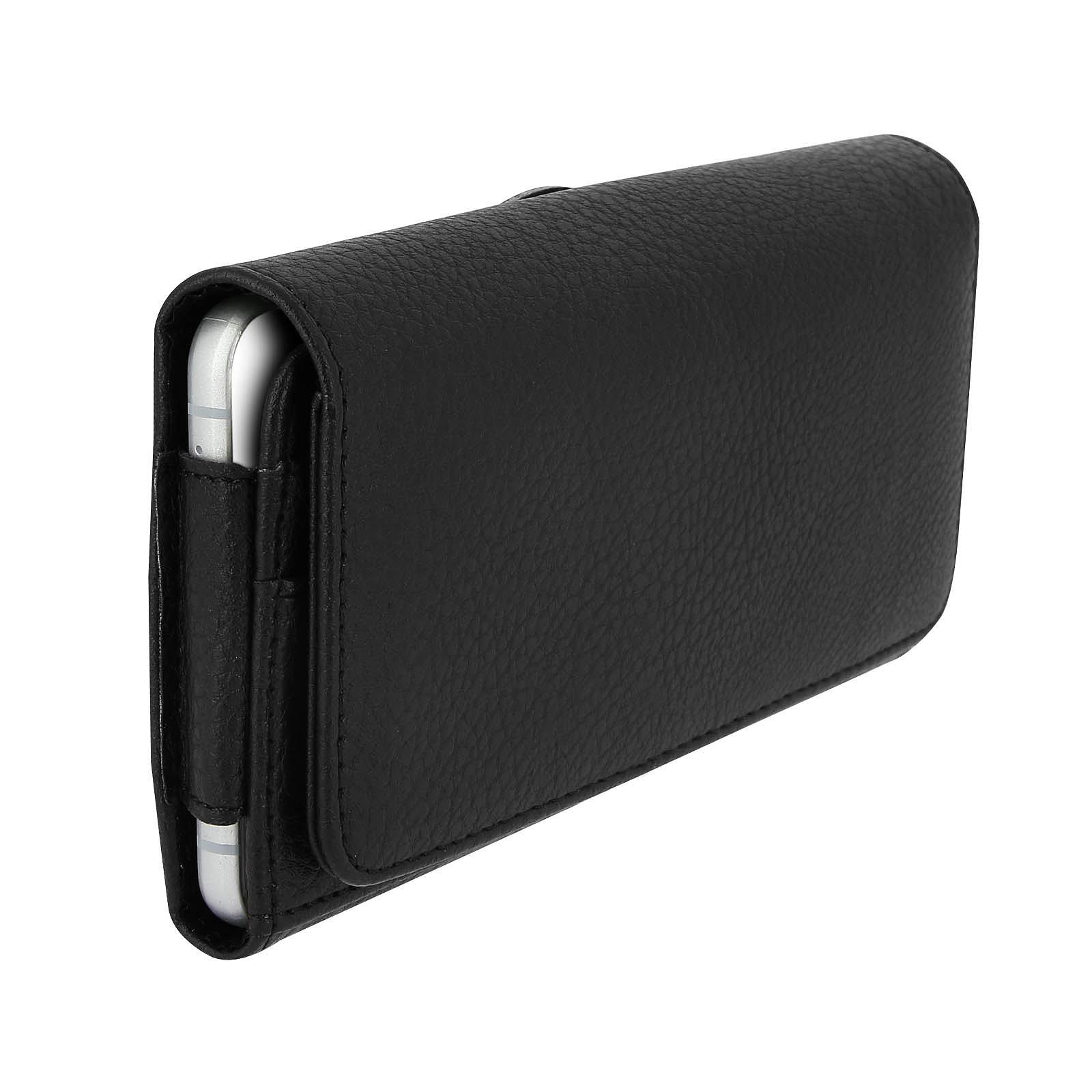 Avizar Etui ceinture Noir pour Smartphones jusqu'à 4.7'