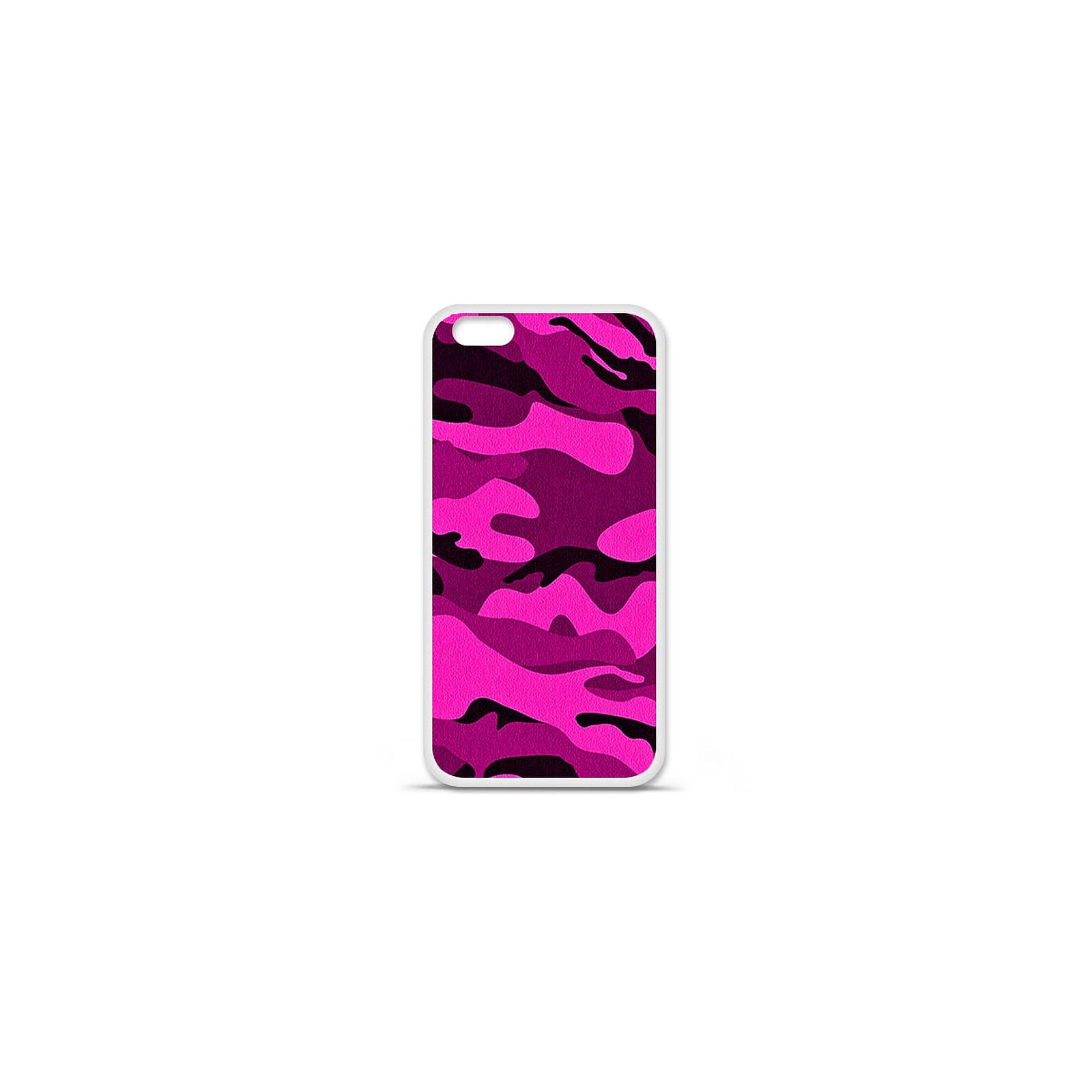 1001 Coques Coque silicone gel Apple IPhone 7 Plus motif Camouflage rose