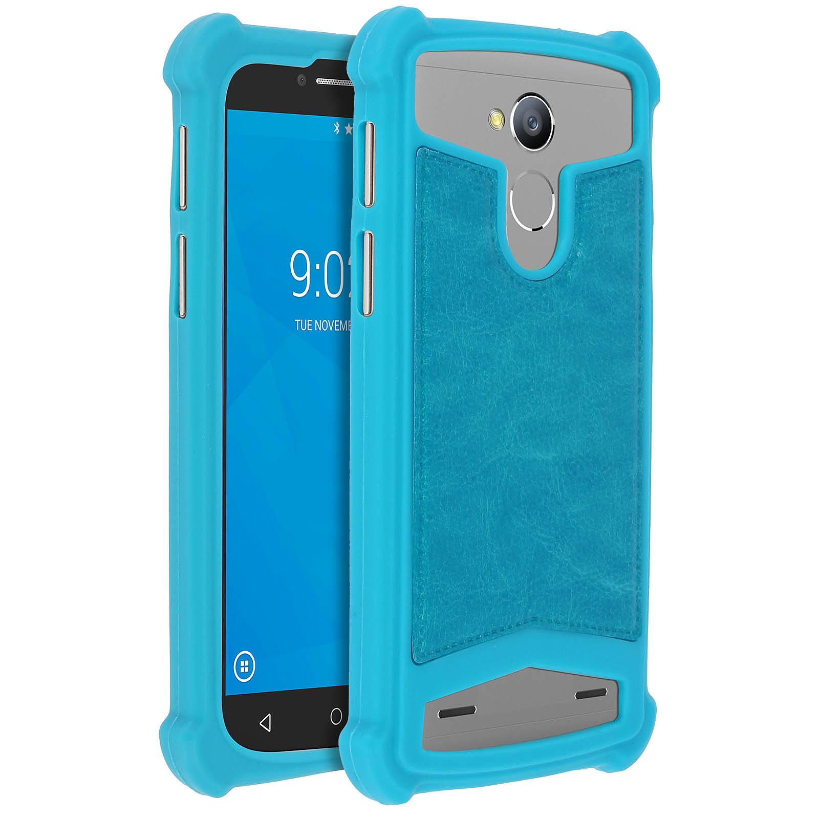 Avizar Coque Turquoise pour Smartphones de 5.0' à 5.3'