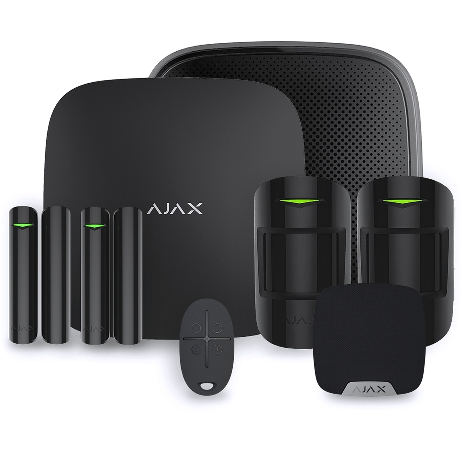 Ajax Alarme maison StarterKit noir  Kit 3