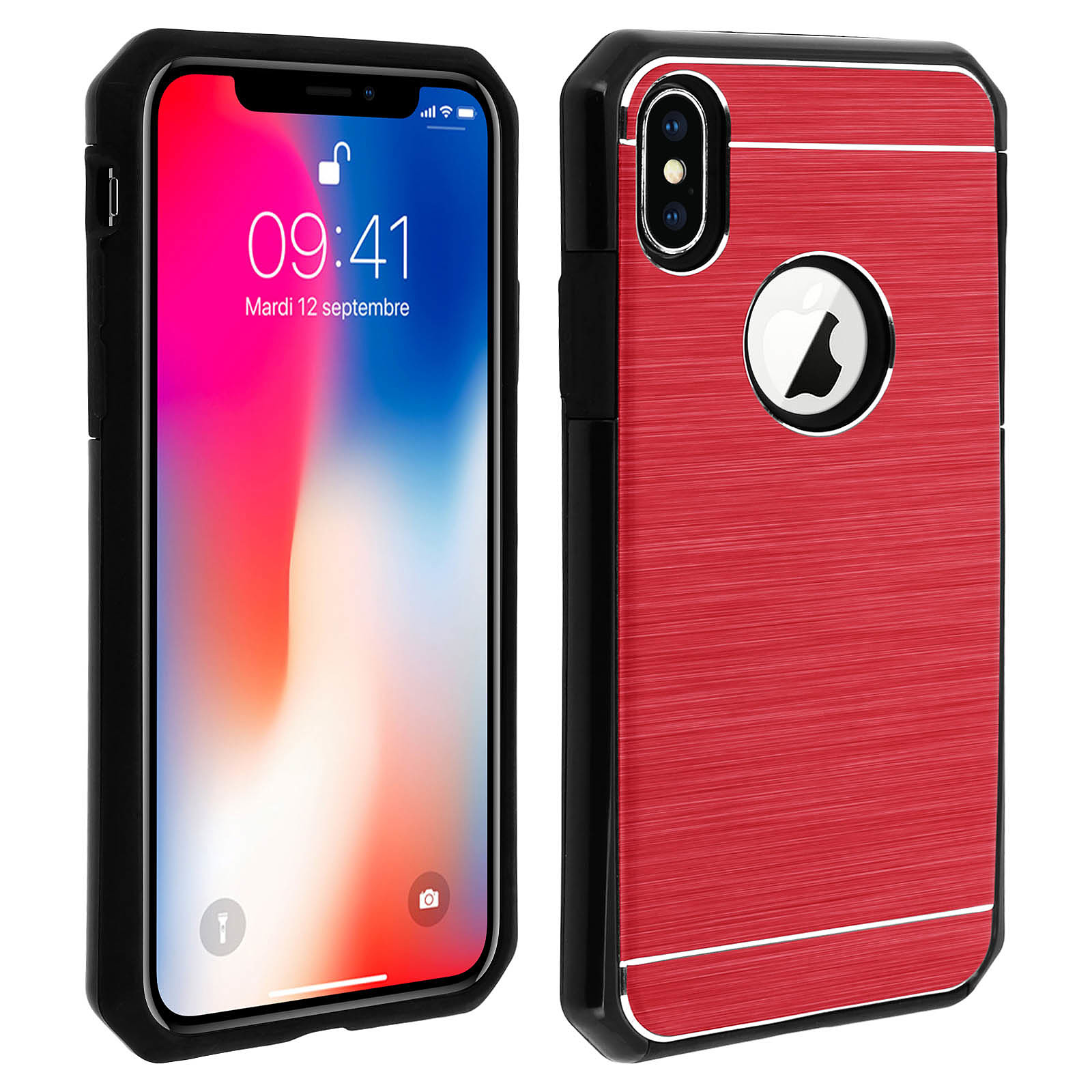 Avizar Coque Rouge Rigide pour Apple iPhone X , Apple iPhone XS