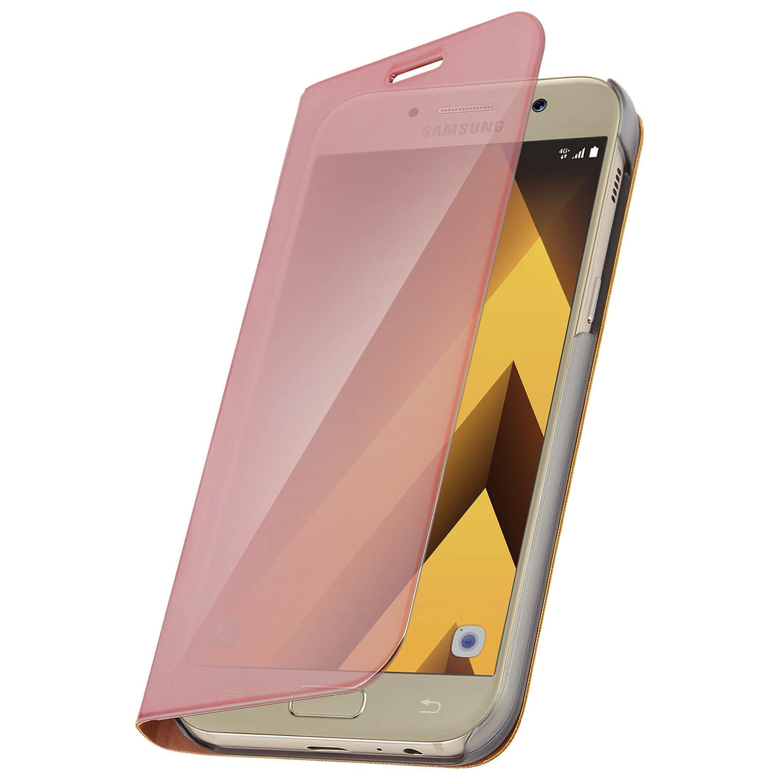 Avizar Etui folio Rose pour Samsung Galaxy A5 2017