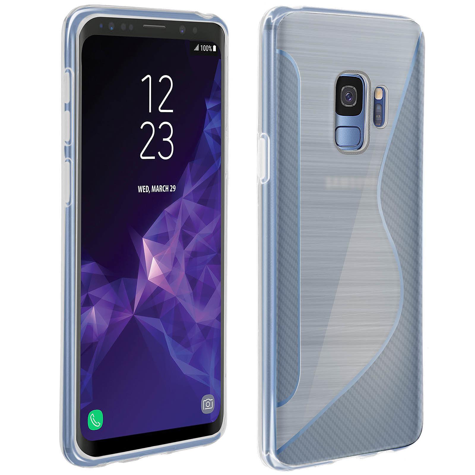 Avizar Coque Transparent S-Line pour Samsung Galaxy S9