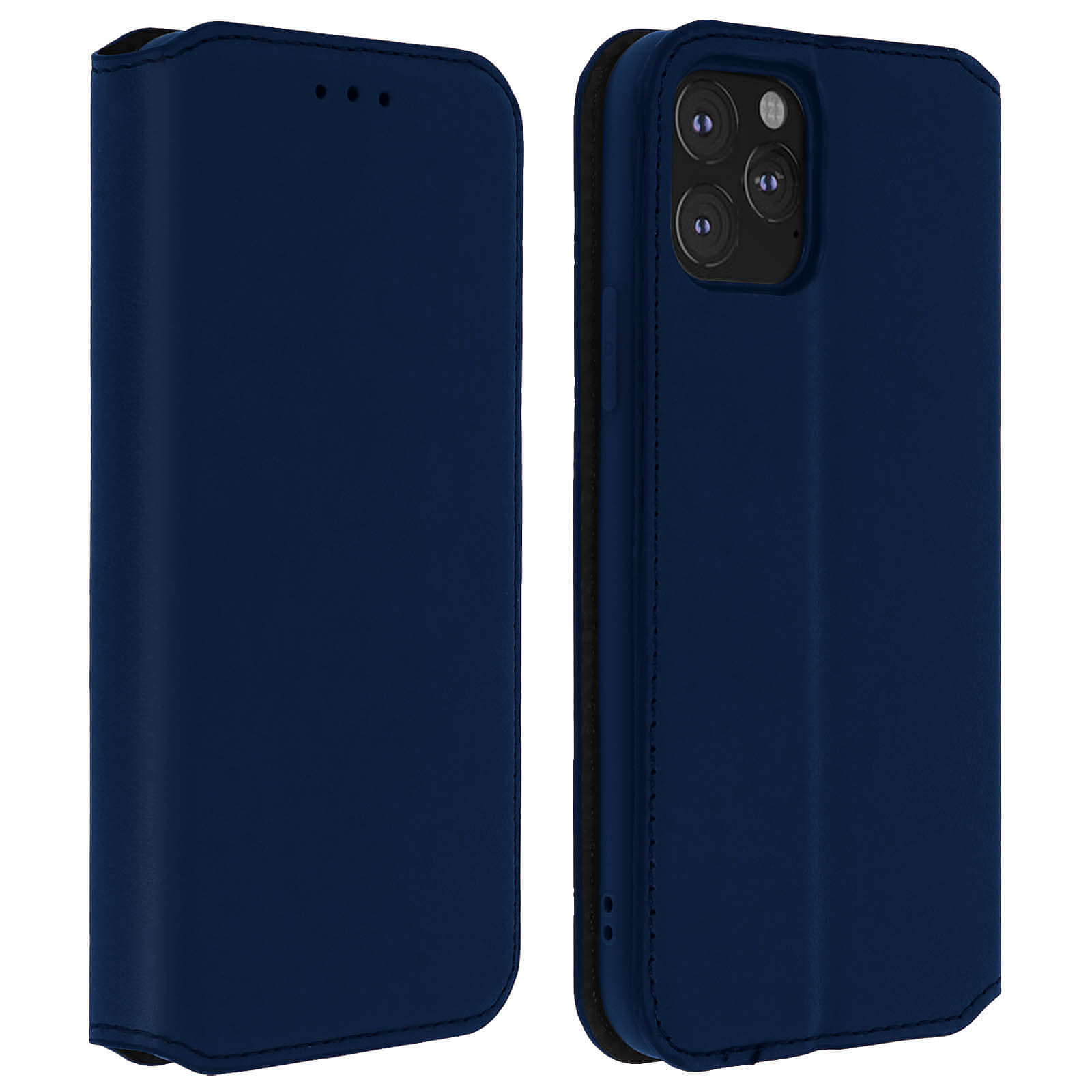 Avizar Etui folio Bleu Nuit pour Apple iPhone 11 Pro Max