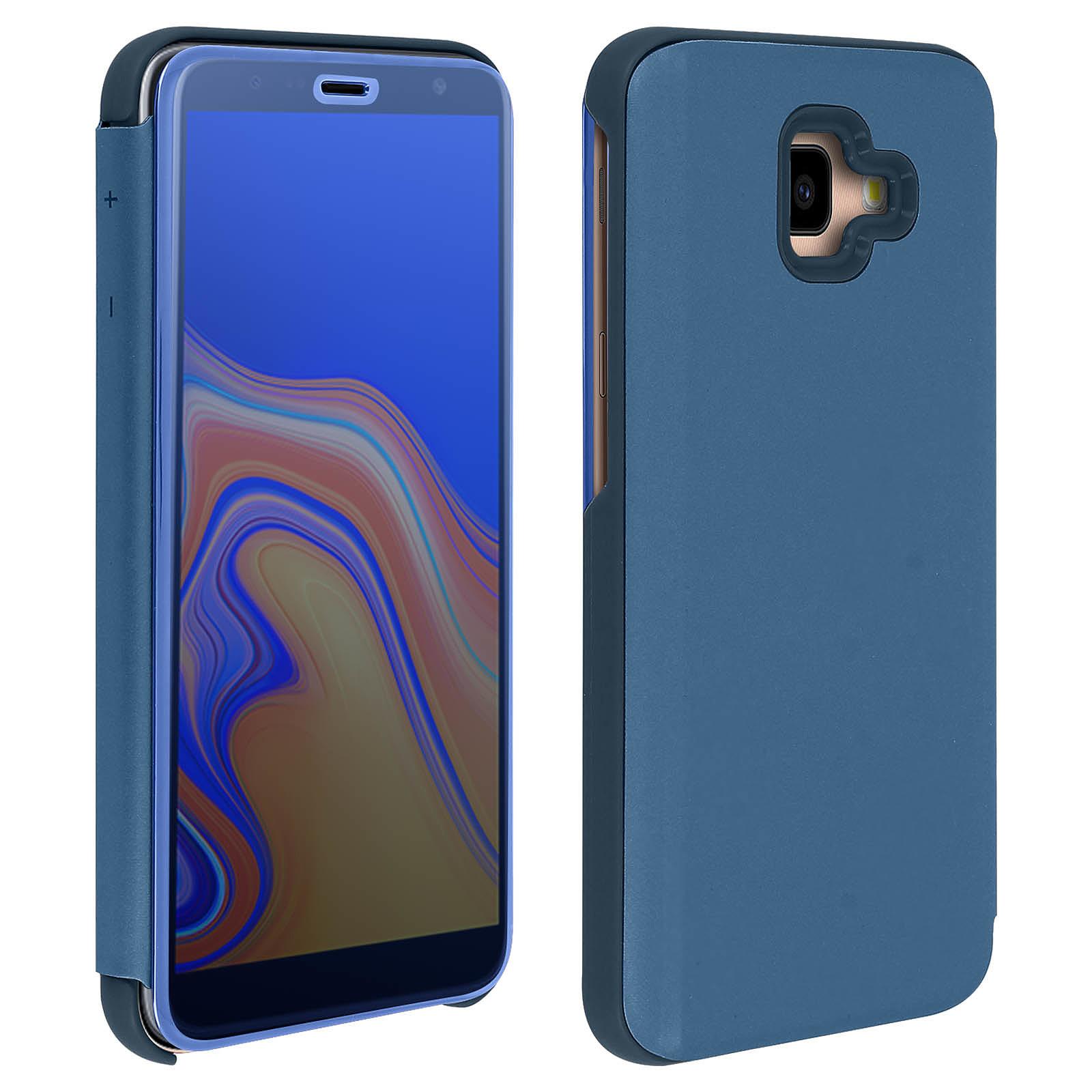 Avizar Etui folio Bleu Nuit pour Samsung Galaxy J4 Plus