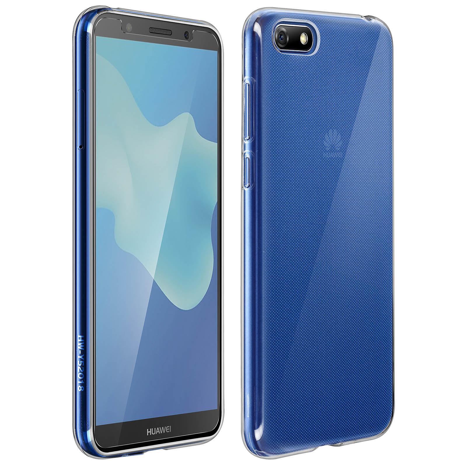 Avizar Coque Transparent avec film pour Huawei Y5 2018 , Honor 7S