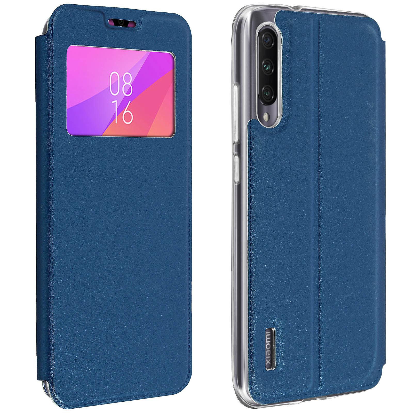 Avizar Etui folio Bleu pour Xiaomi Mi A3