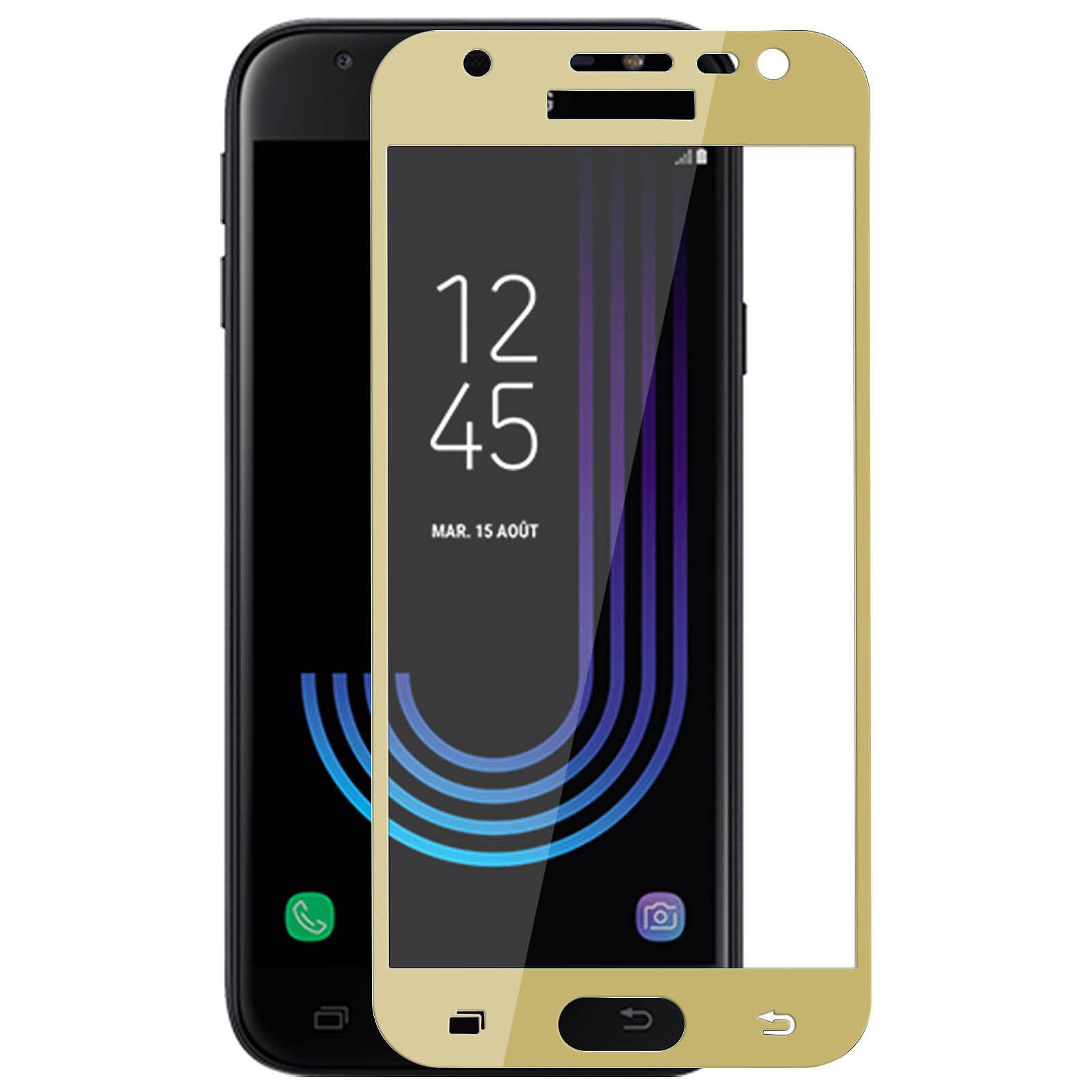 Avizar Film verre trempé Dorée pour Samsung Galaxy J3 2017