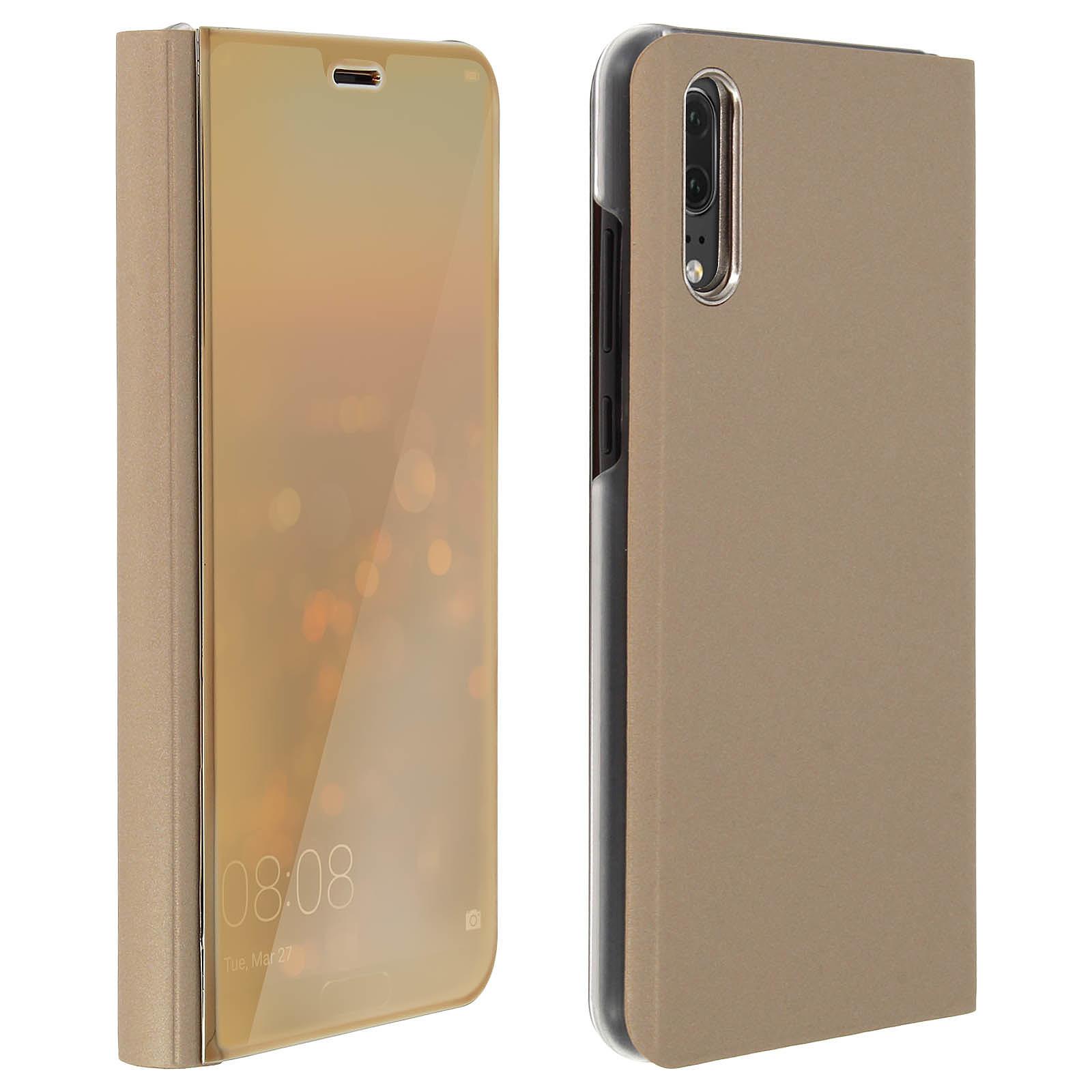 Avizar Etui folio Dorée pour Huawei P20