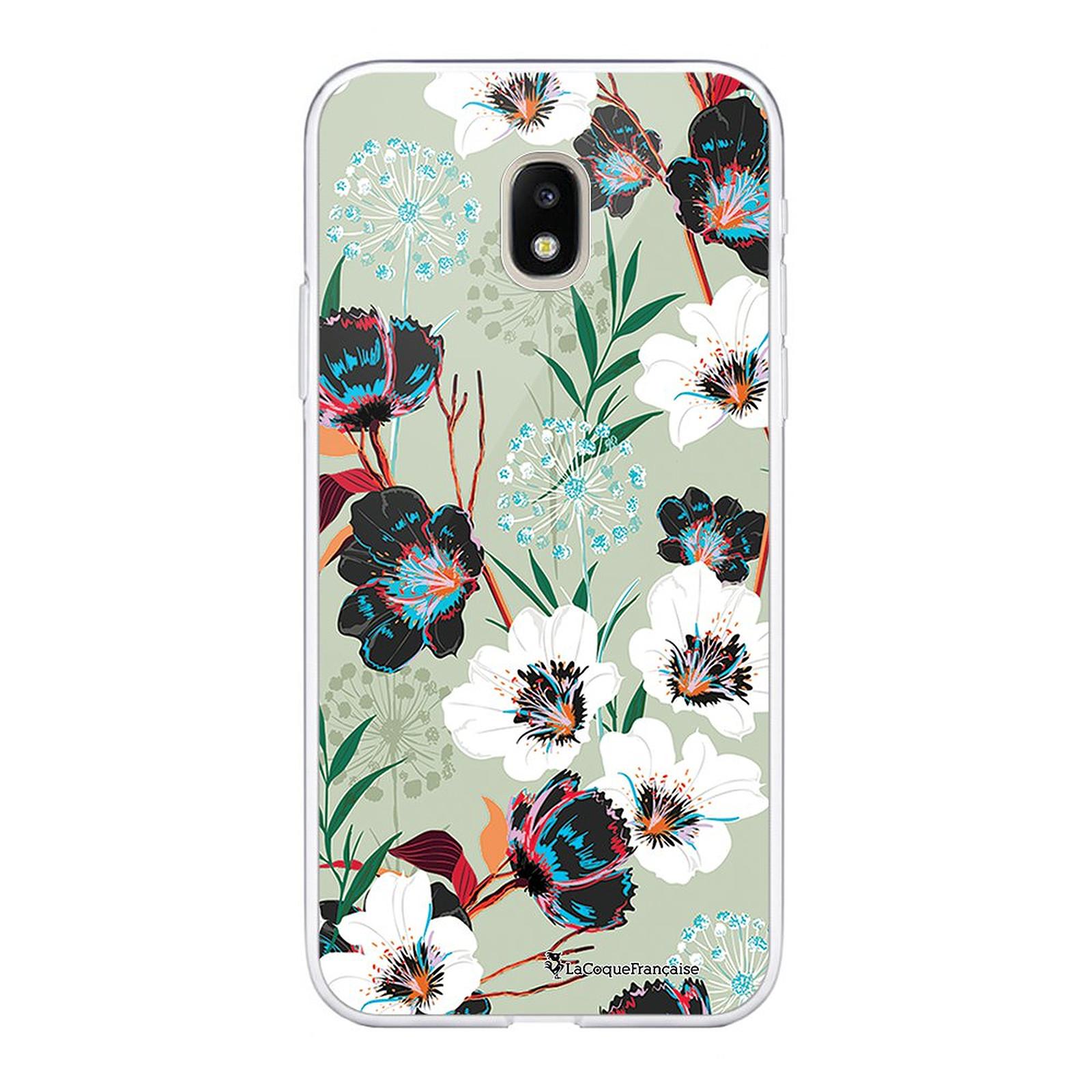 LA COQUE FRANCAISE Coque Samsung Galaxy J3 2017 souple transparente Fleurs vert d'eau - Coque téléphone LaCoqueFrançaise sur LDLC