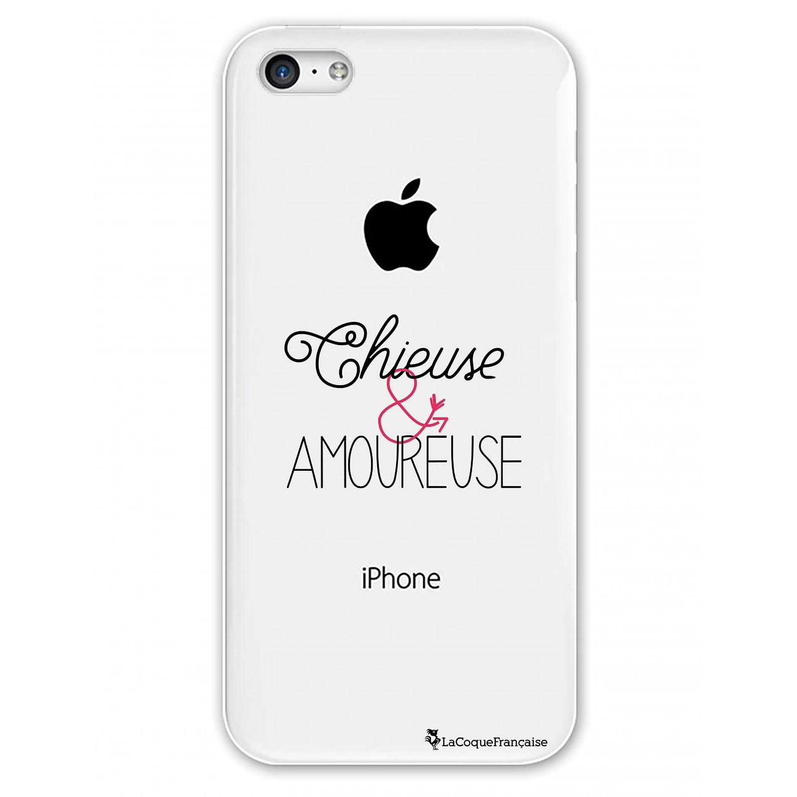 LA COQUE FRANCAISE Coque iPhone 5C rigide transparente Chieuse et Amoureuse Dessin