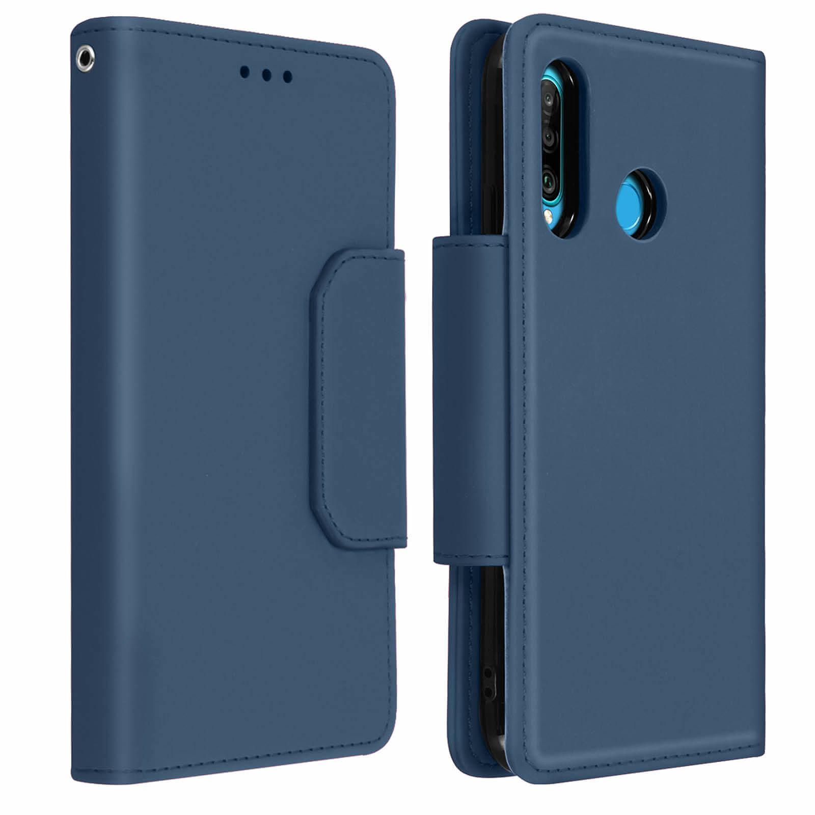 Avizar Etui folio Bleu Nuit pour Huawei P30 Lite , Honor 20S , Huawei P30 Lite XL