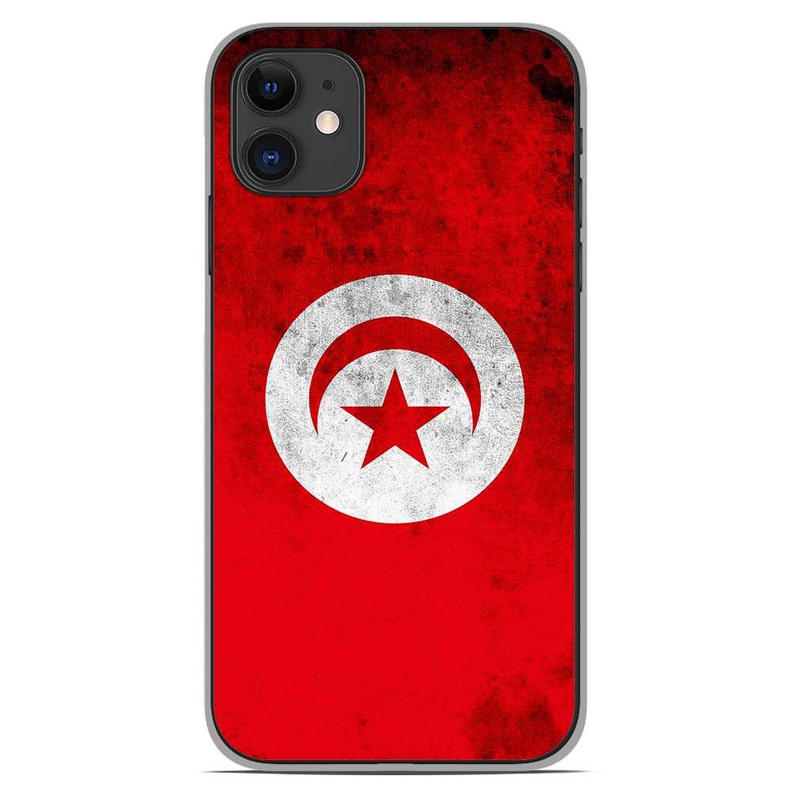 1001 Coques Coque silicone gel Apple iPhone 11 motif Drapeau Tunisie