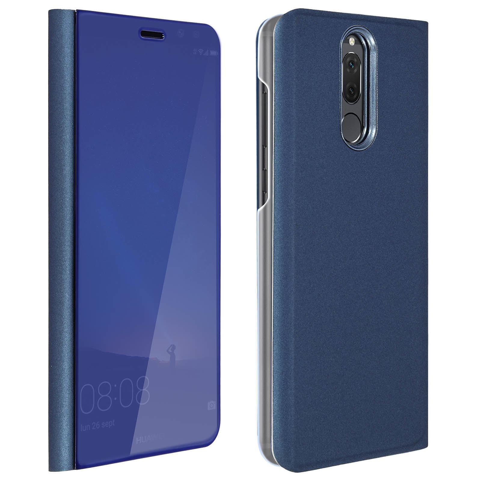 Avizar Etui folio Bleu pour Huawei Mate 10 Lite