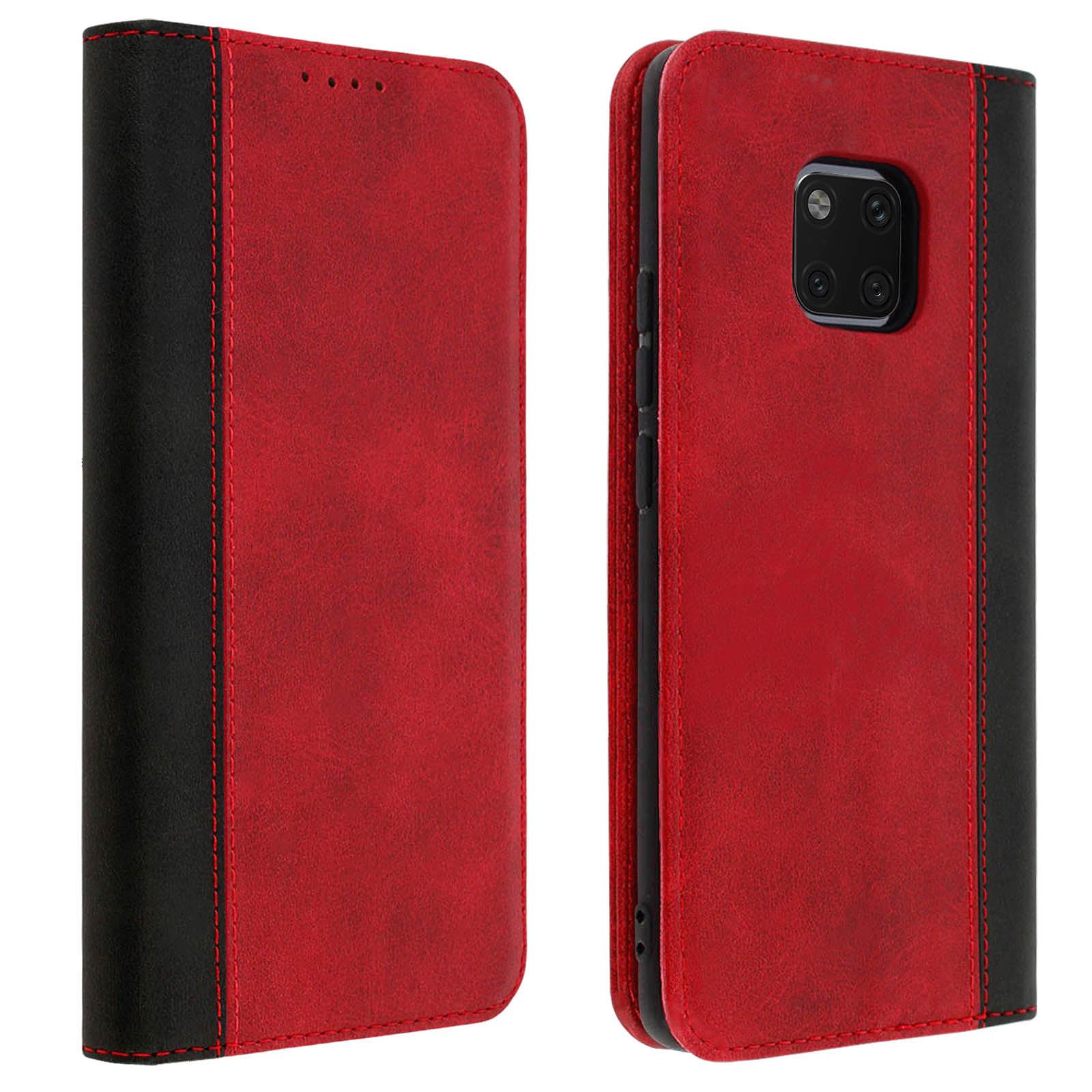 Avizar Etui folio Rouge Éco-cuir pour Huawei Mate 20 Pro