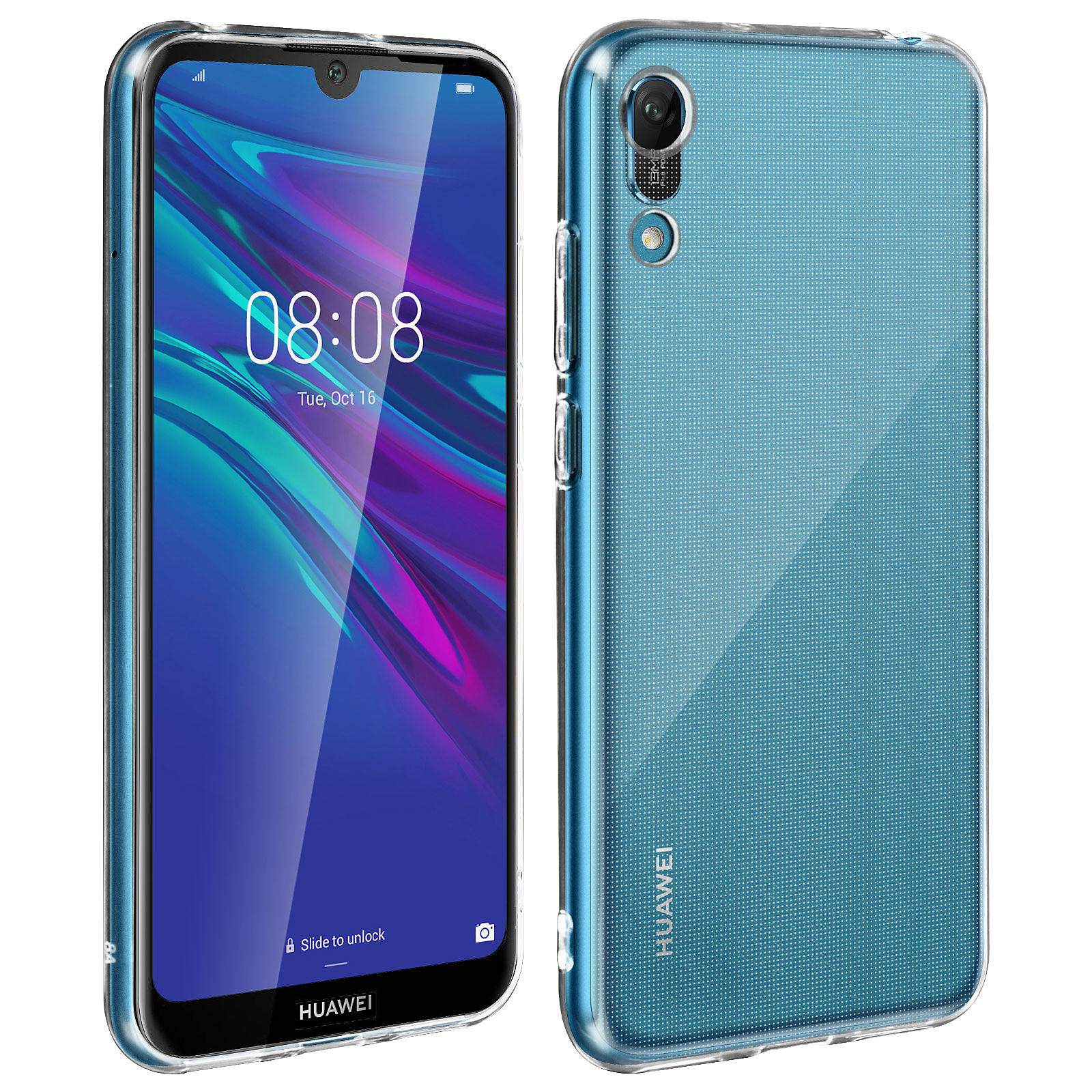 Avizar Pack protection Noir pour Huawei Y6 2019