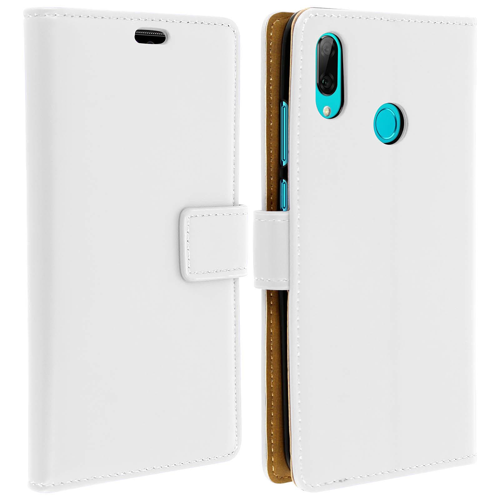 Avizar Etui folio Blanc pour Huawei P Smart 2019 , Honor 10 Lite